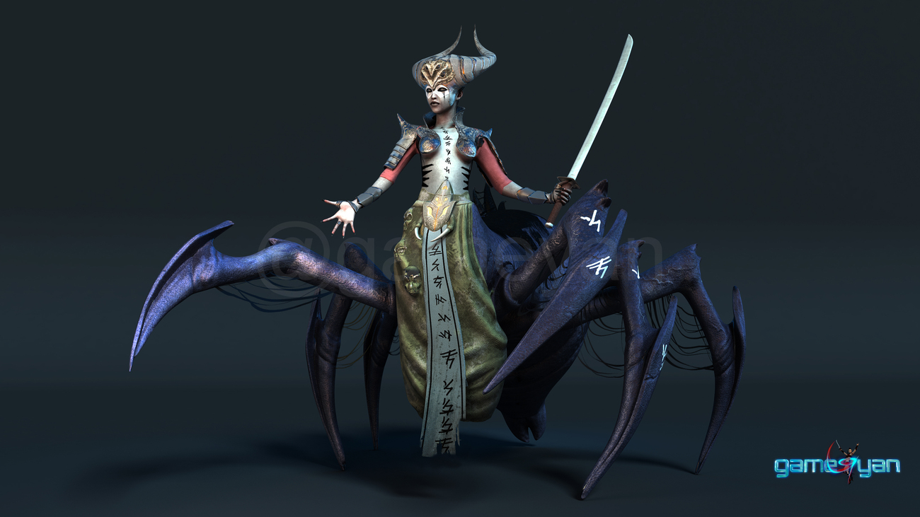 Spider Mistress - 3d low poly character developers by characteranimation