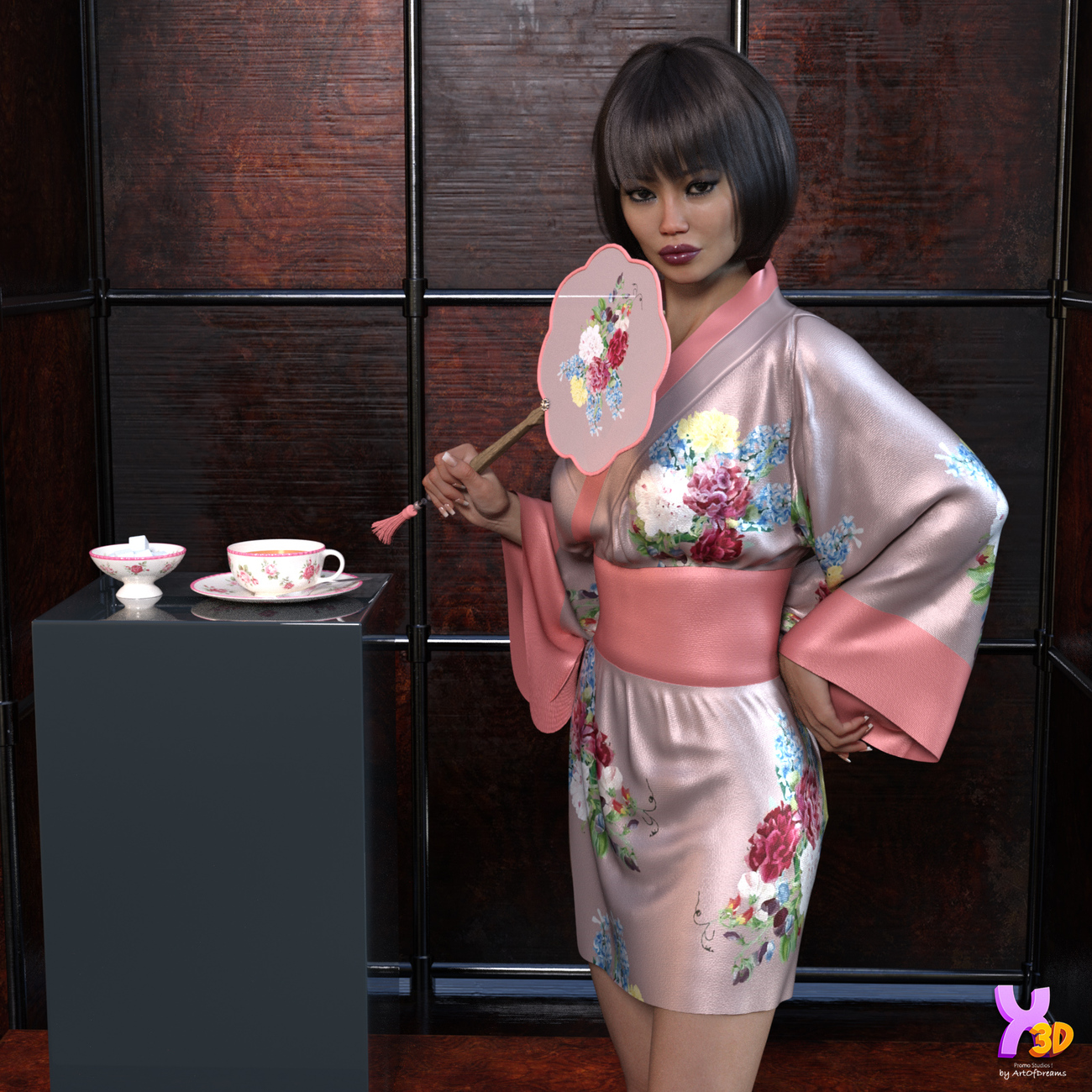 dforce Kimono Lingerie for G8F by Fefecoolyellow by ArtOfDreams