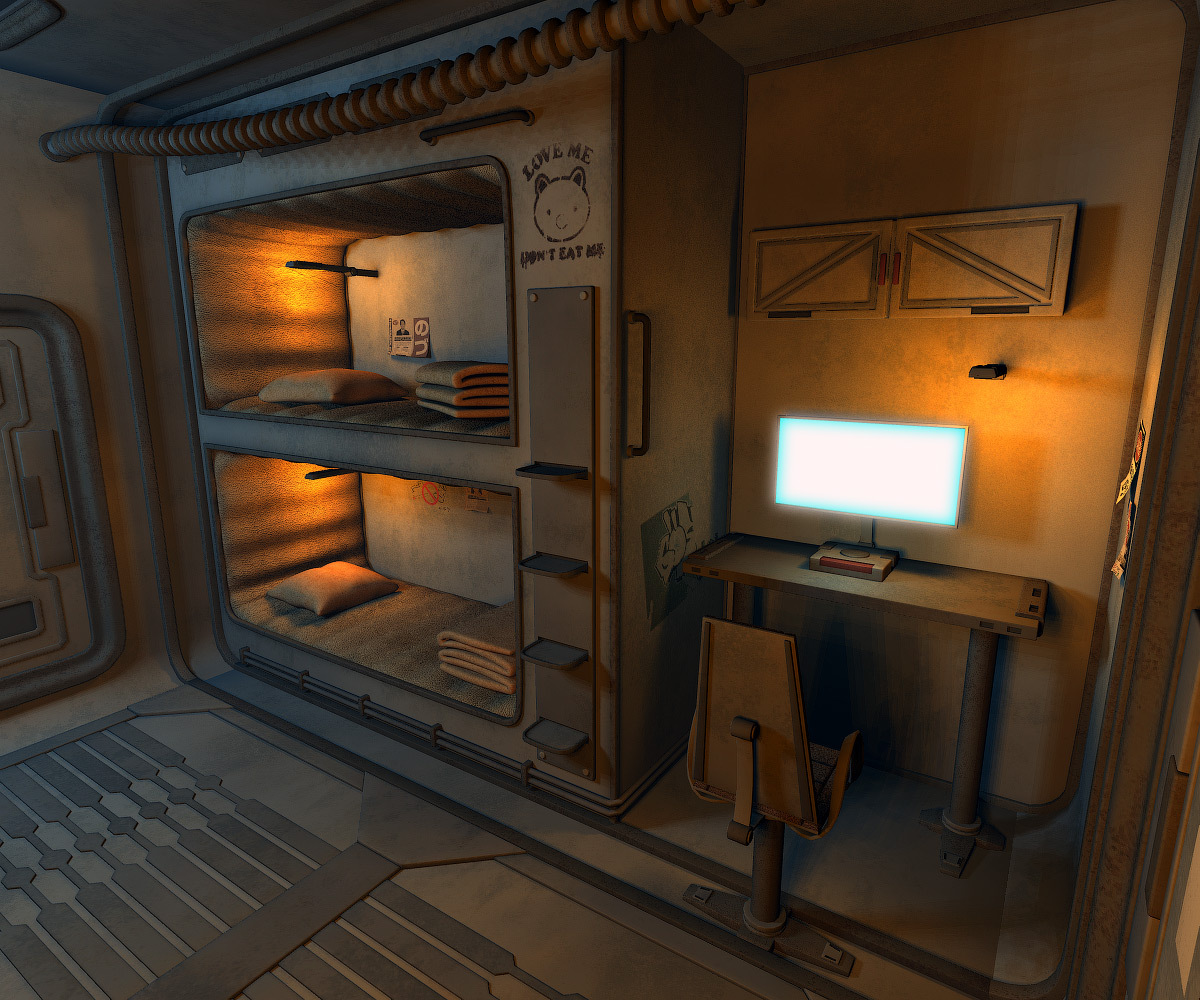 SciFi bedroom by 1971s