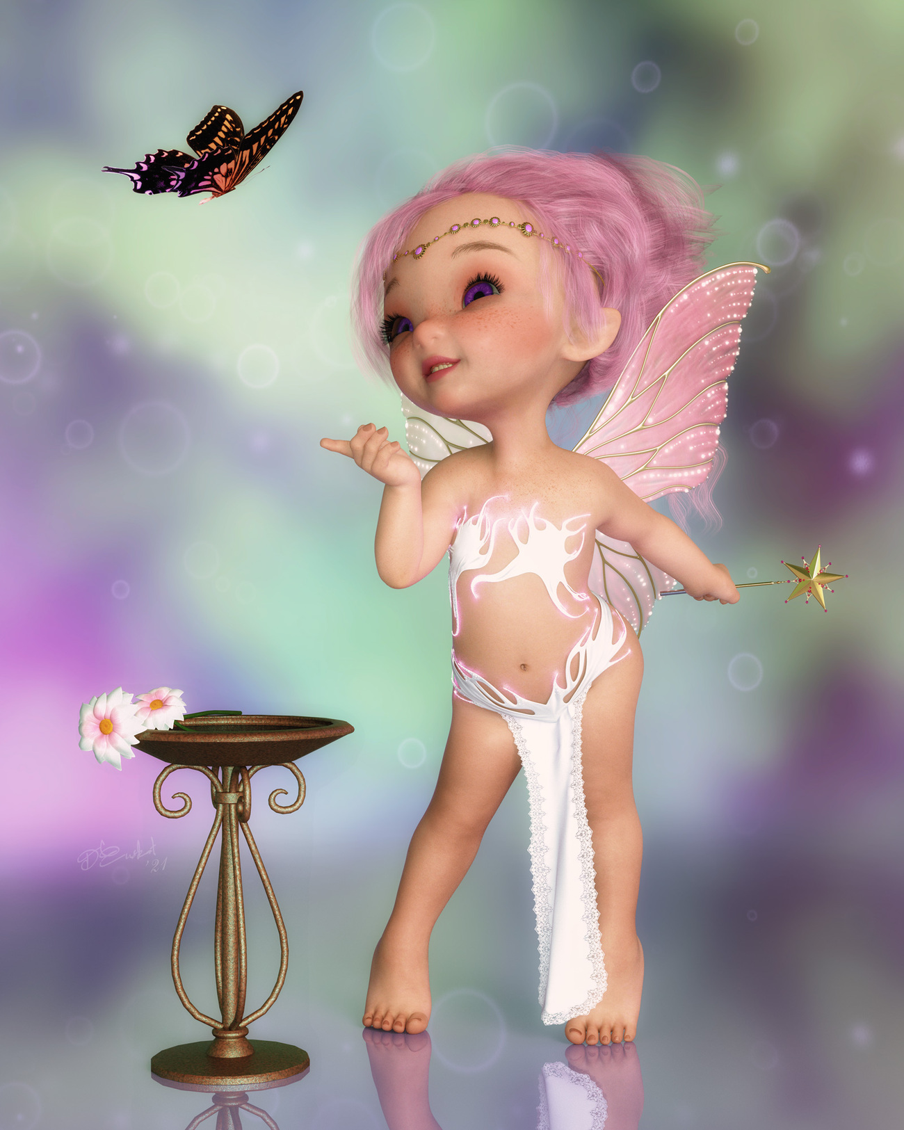 Little fairy butterfly by LadyNightVamp