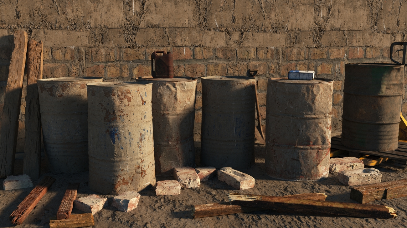 Dusty old barrels by iborg64