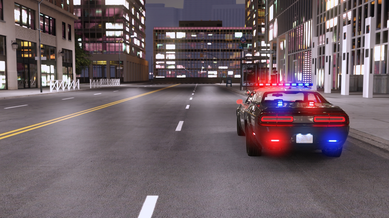 Police Car City at night by x7
