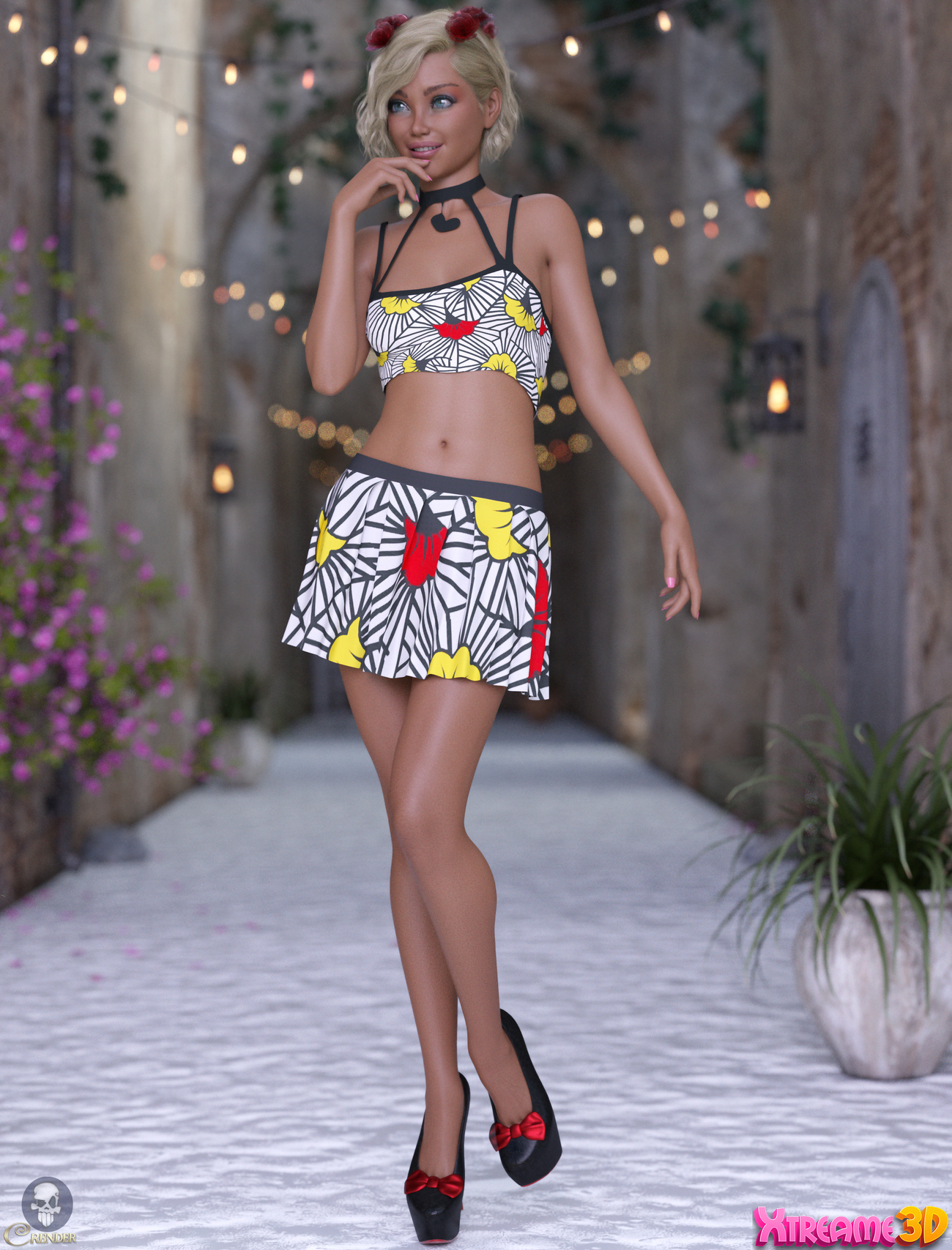dForce Nysali Outfit for G8F by Mella_via 2 by crender