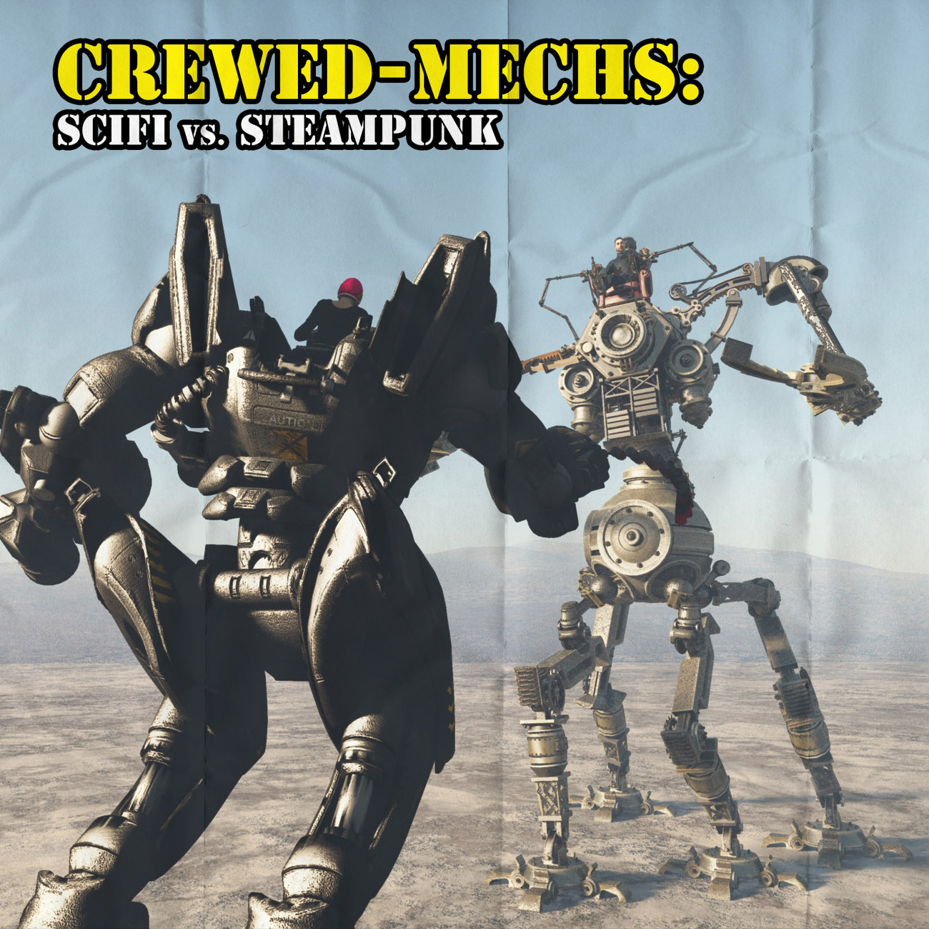 Crewed-Mechs: SciFi vs. Steampunk by rps53
