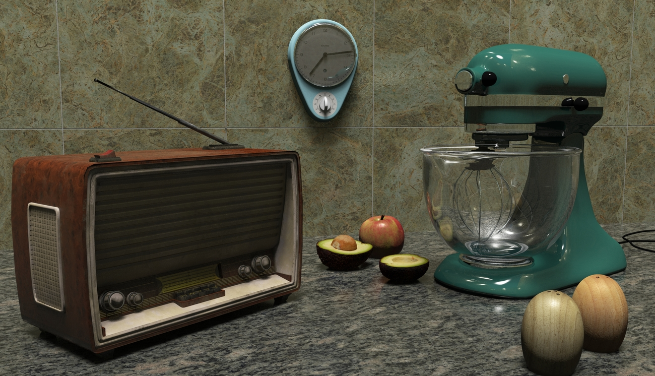 1960's kitchen side by iborg64