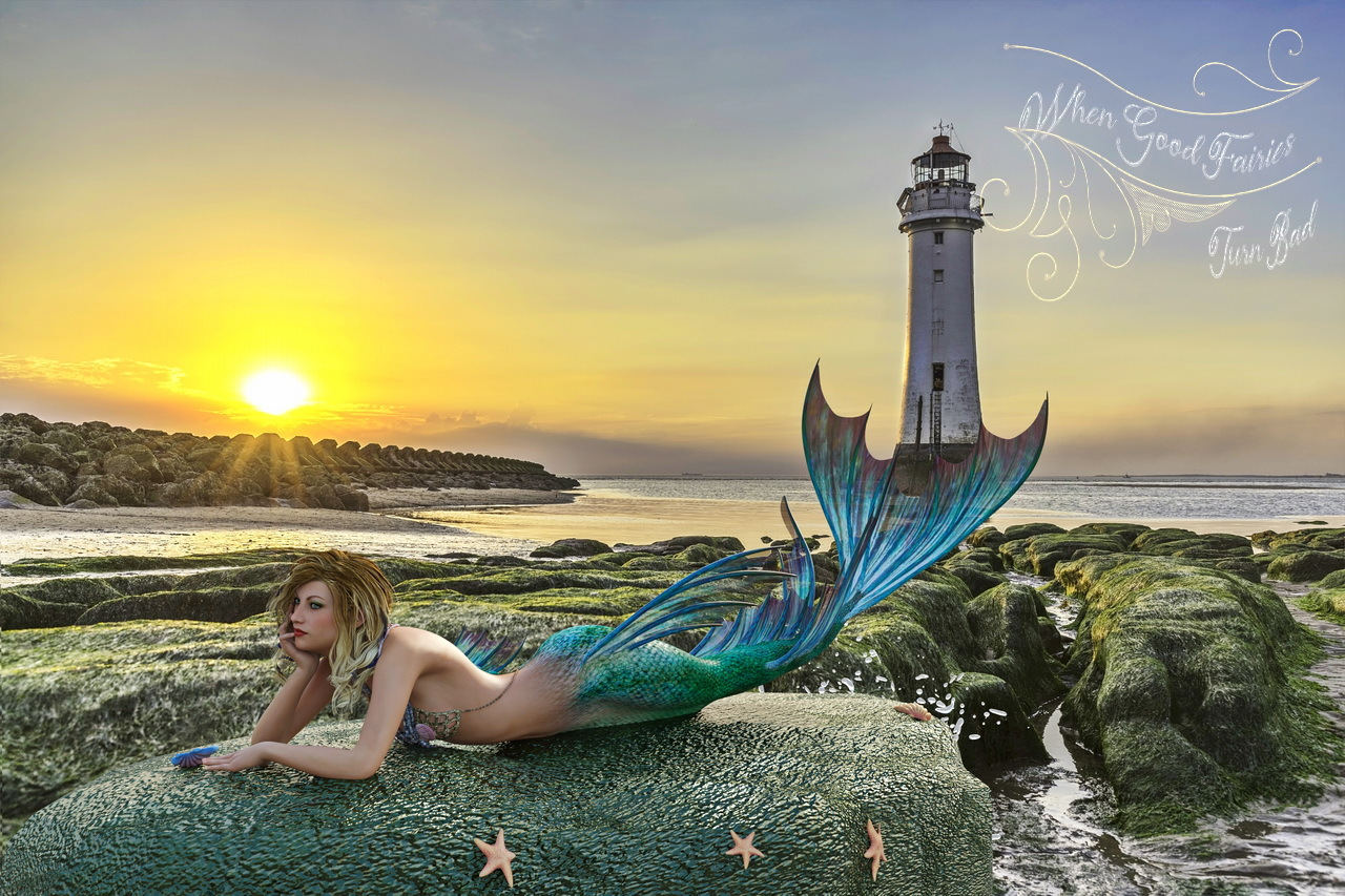 Mermaid on the Rocks 1 by dbwalton