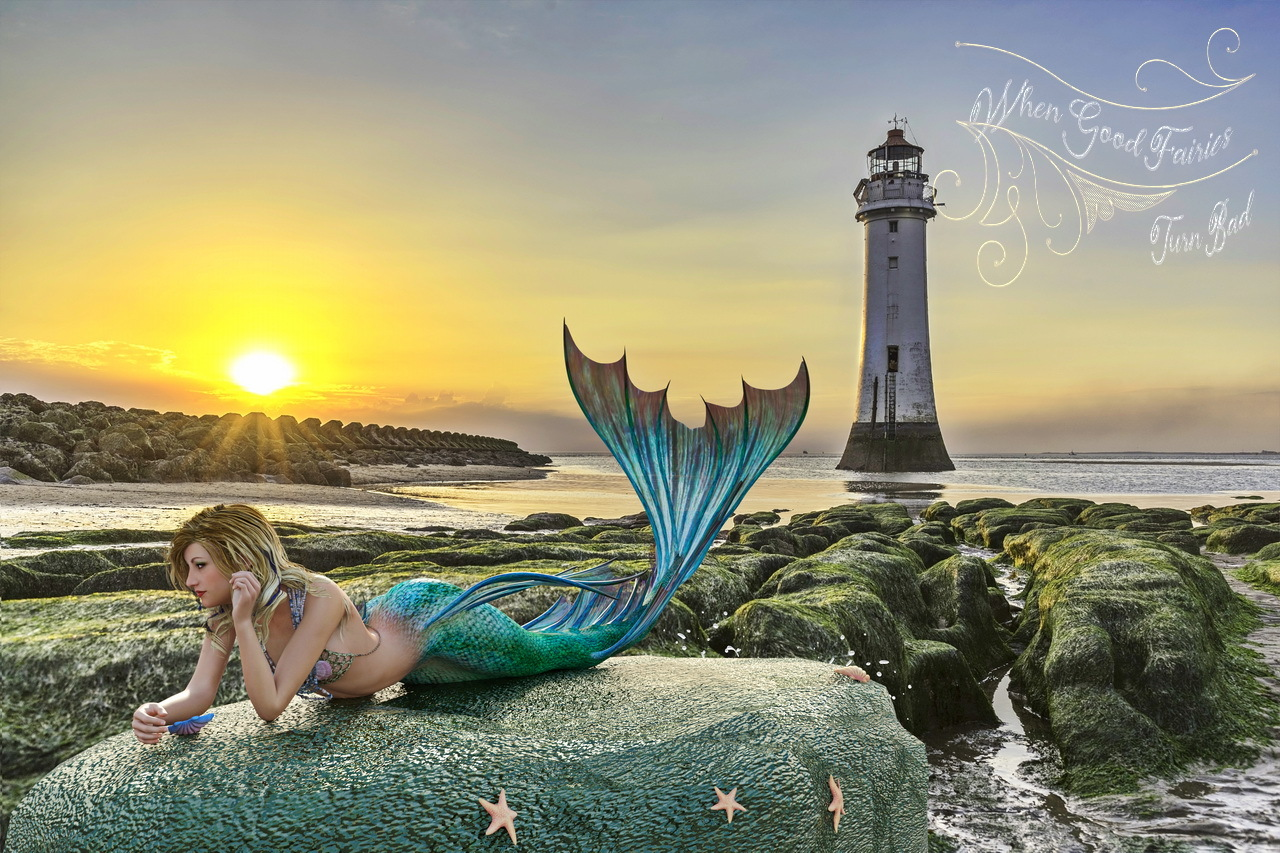 Mermaid on the Rocks 2 by dbwalton