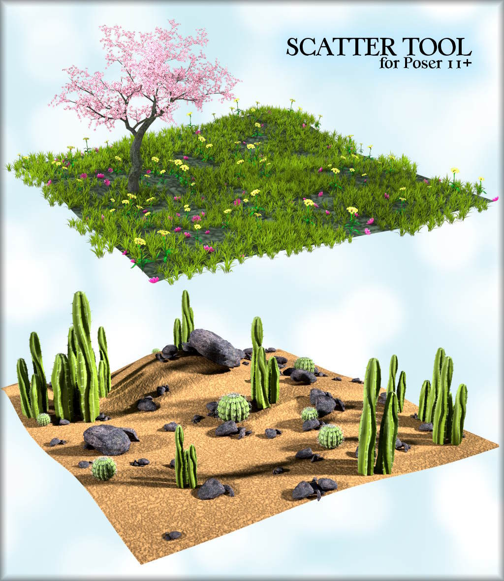 ~Scatter Tool~ for Poser 11~ by Ken1171_Designs