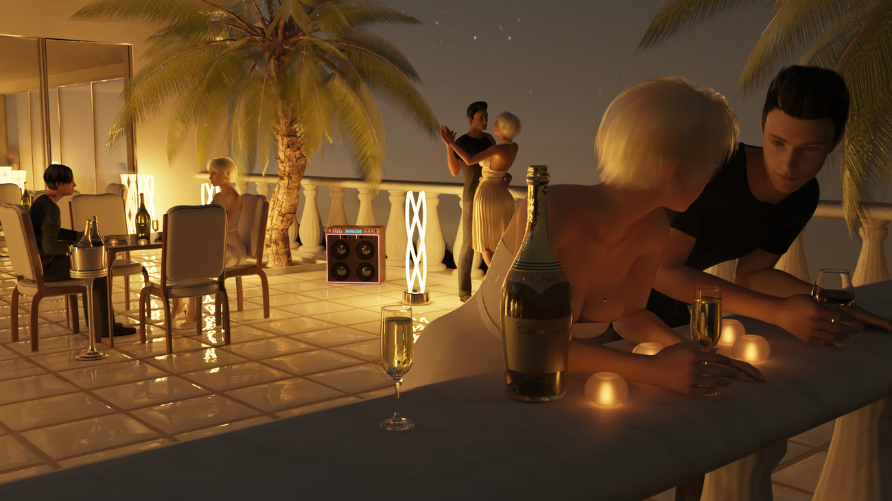 Night Party with Champagne by mifdesign