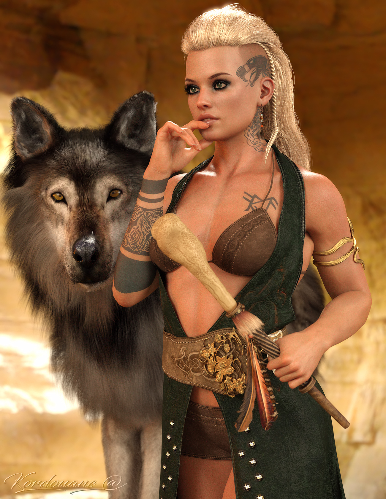 Wild Woman and the Wolf