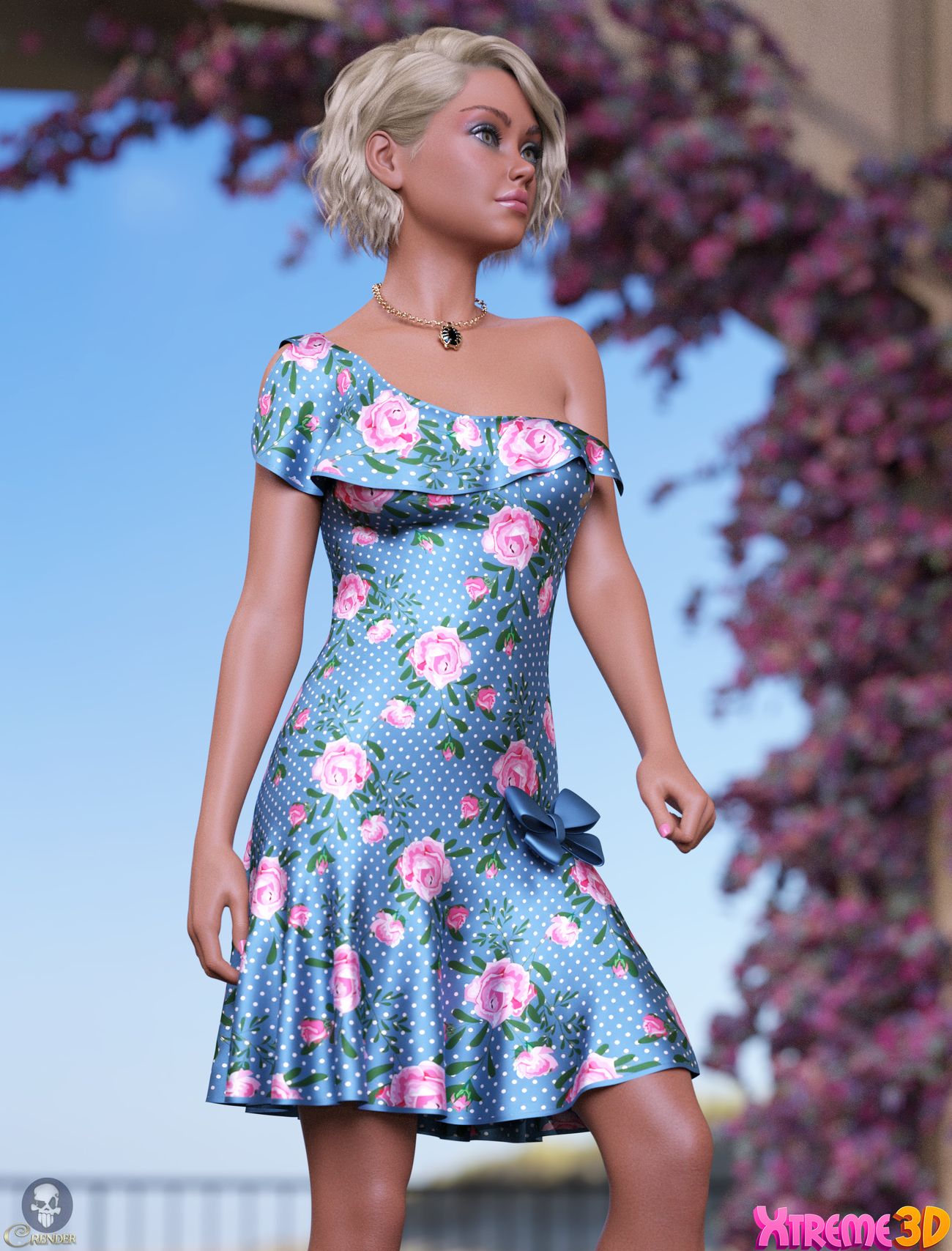 dForce Rose Dress Outfit by Nelmi by crender
