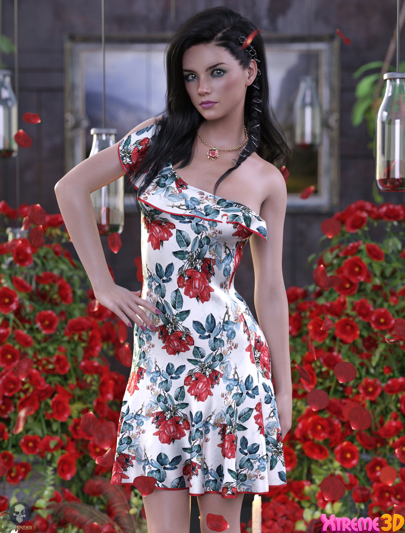 dForce Rose Dress Outfit by Nelmi 2 by crender