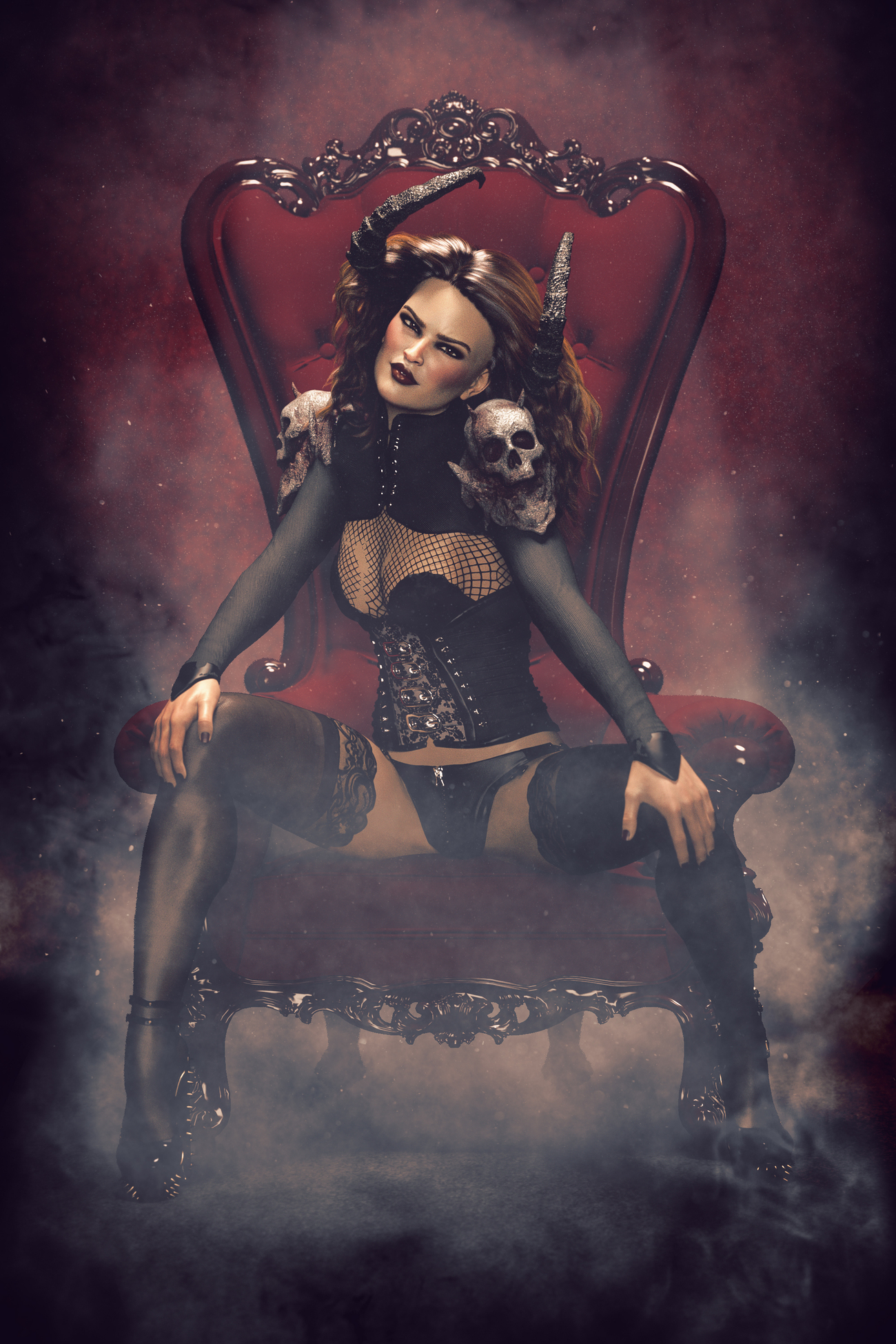 Demon Throne by solisphotography