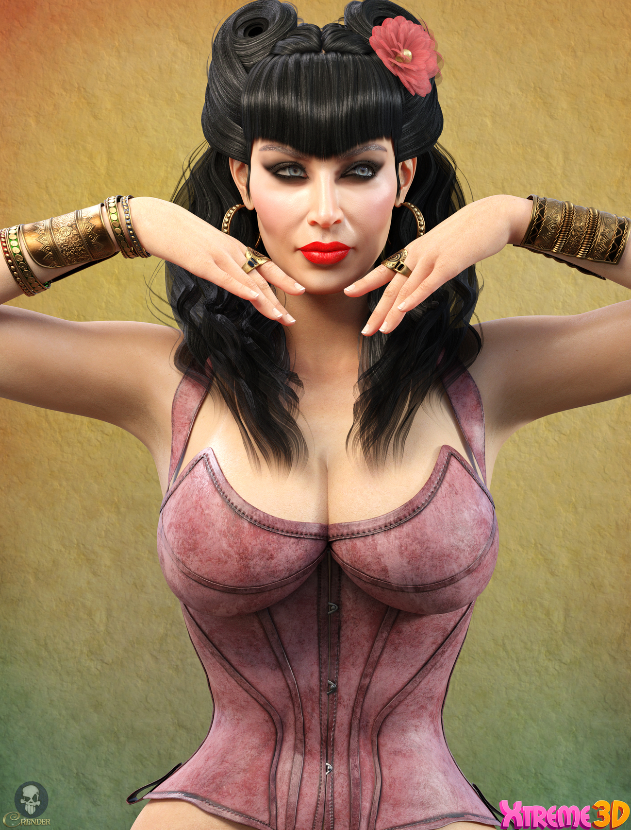 SC Solo Fantasy Corset 01 for G8F by Secondcircle by crender