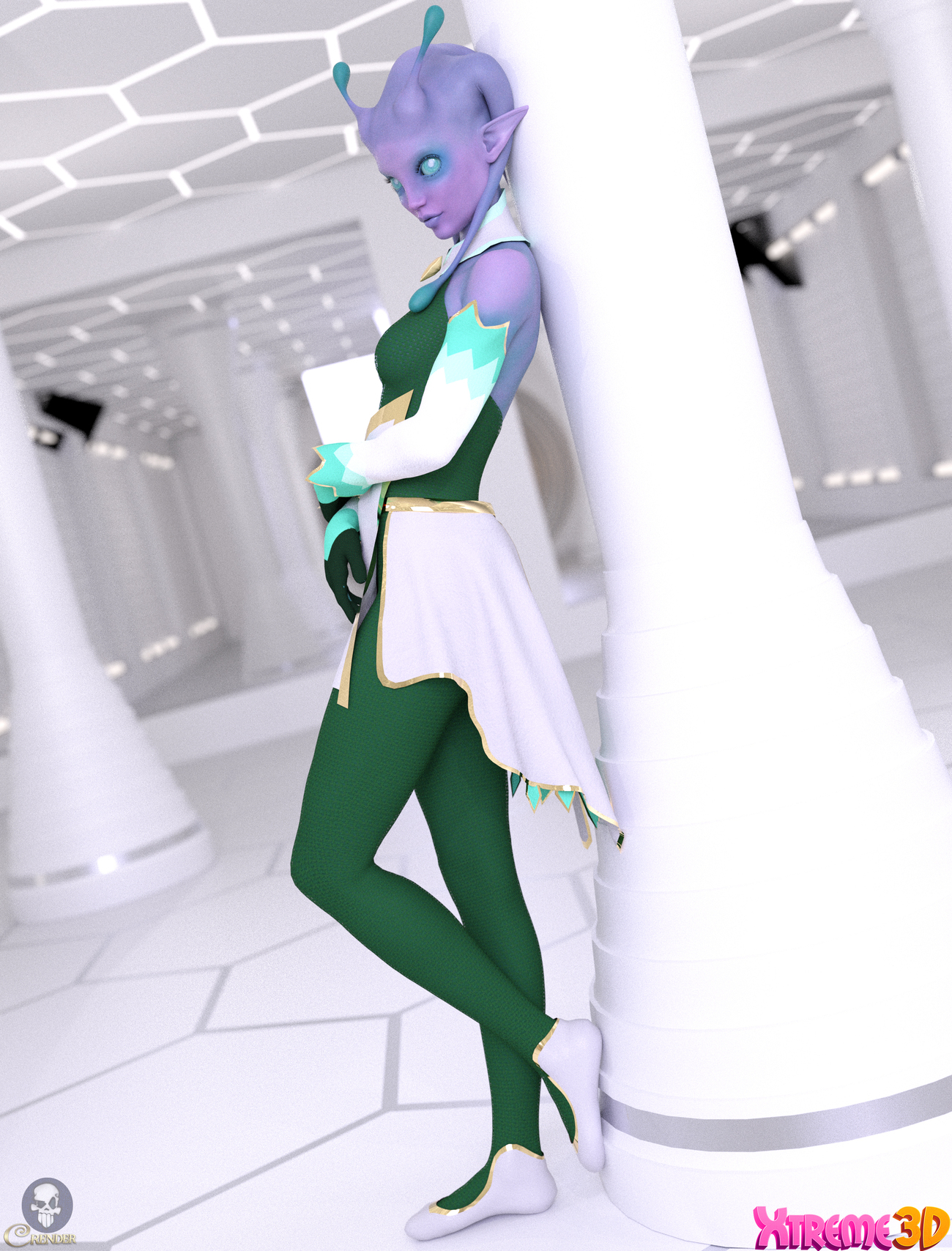 dForce Galine Outfit for G8F by Mella_via by crender