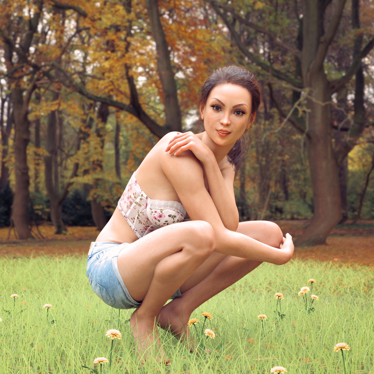 Martina in the Park by MarkCM