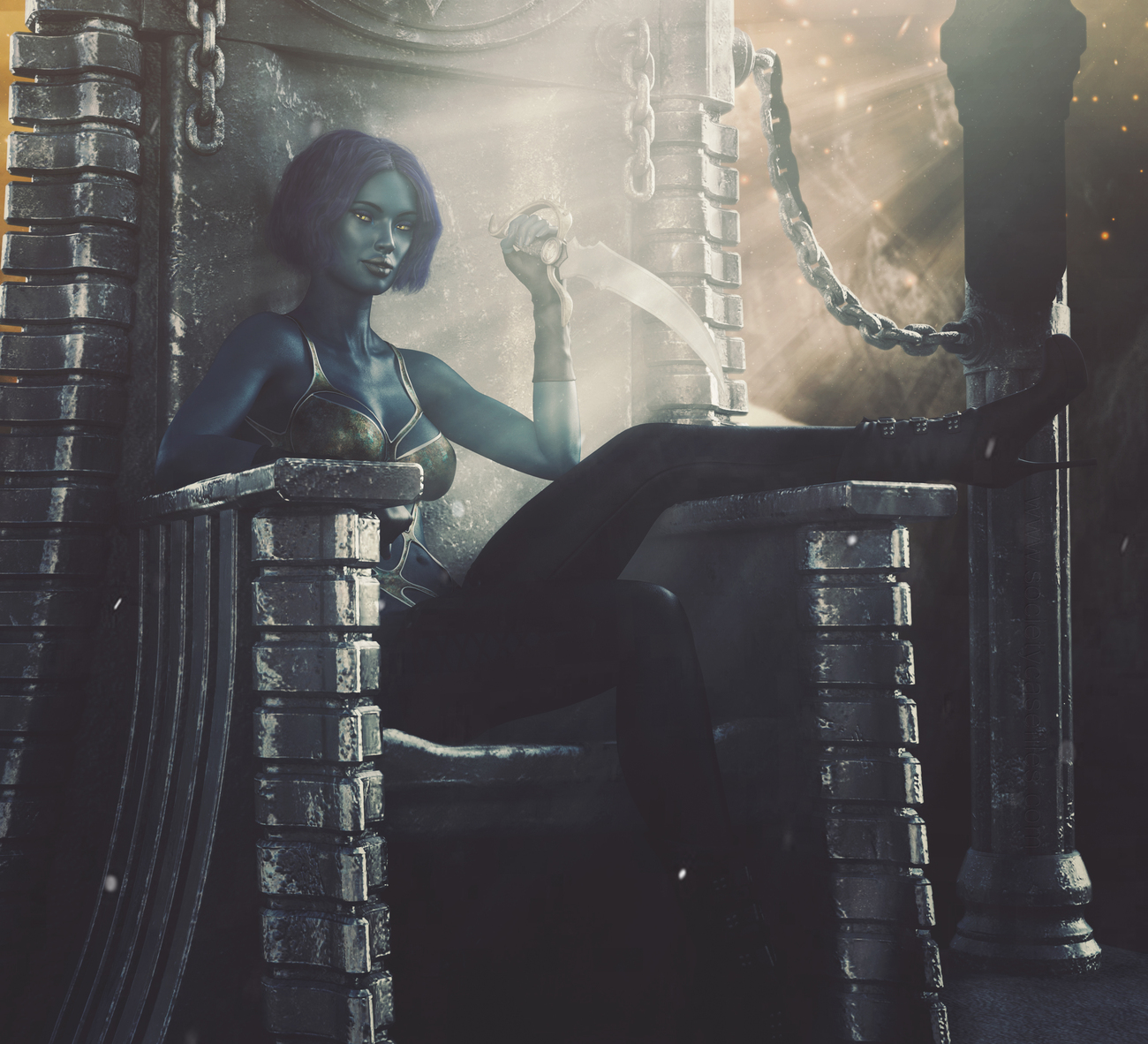 Throne of the Drow by darkrepast