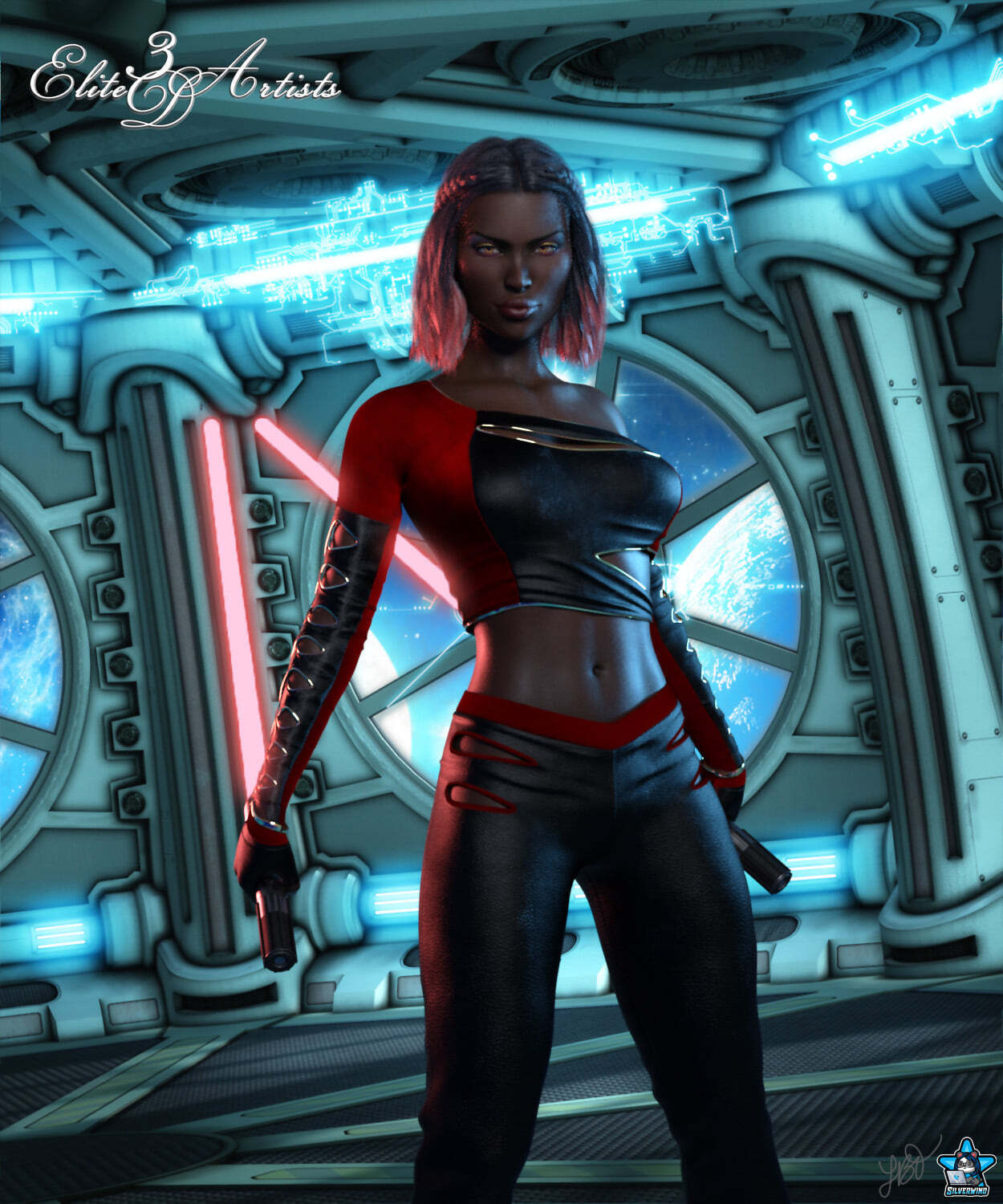 Sci-Fi Lightblade Pose Pack for G8F 03 by Elite3DArtists