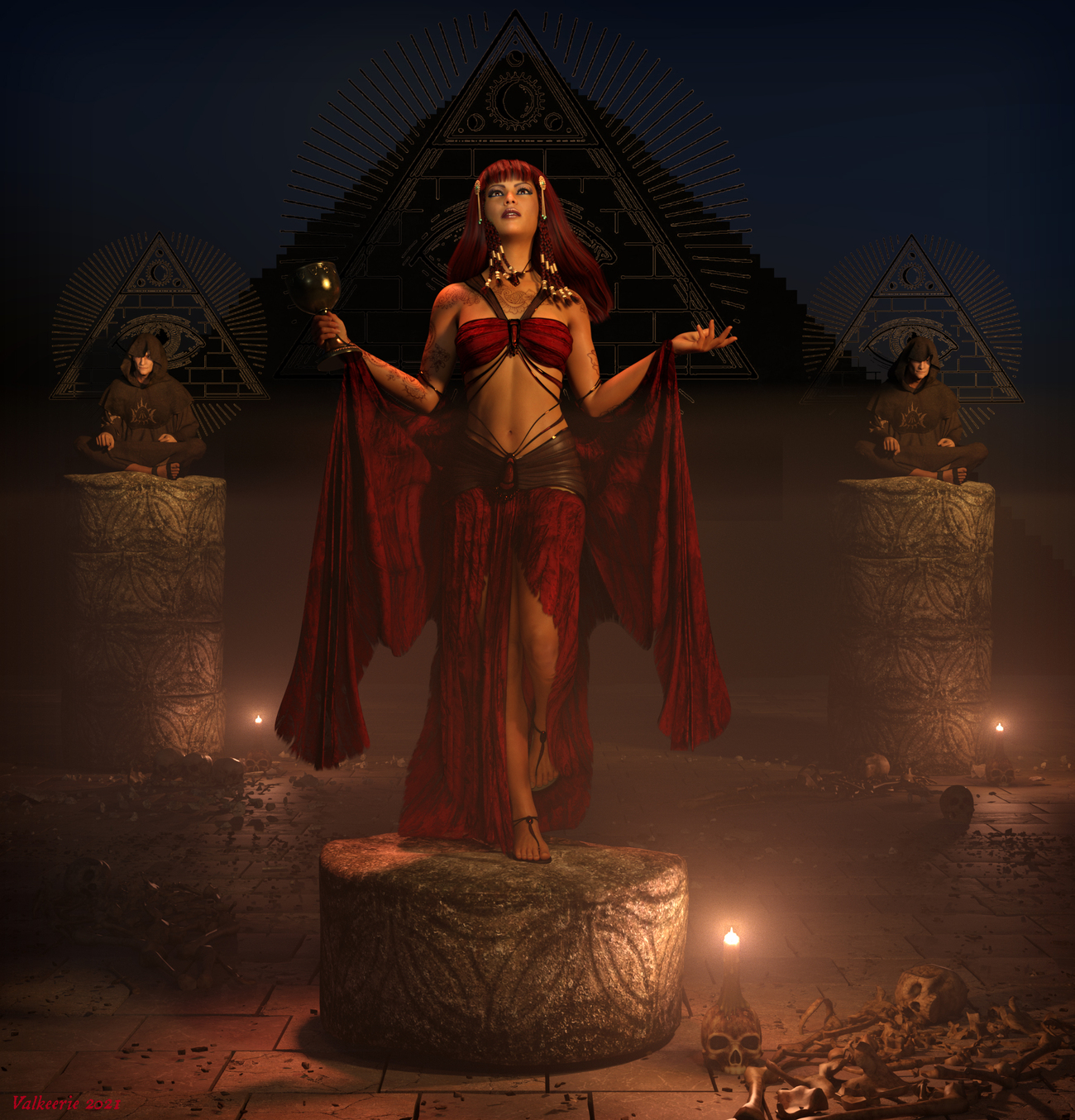 Babalon in the City of the Pyramids by valkeerie
