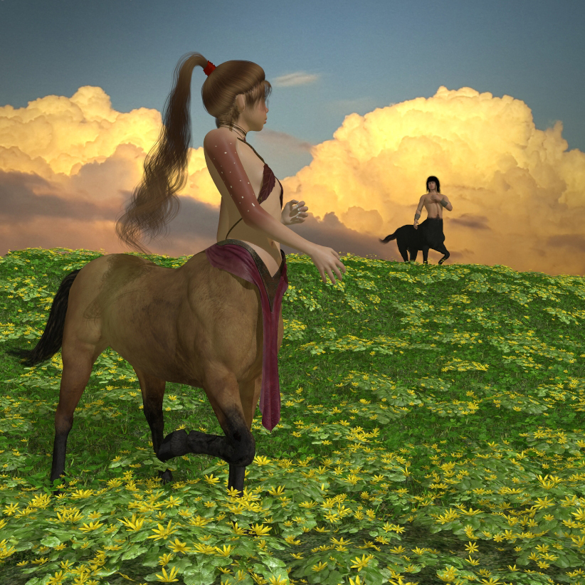 Springing to life in the fields of centaurs