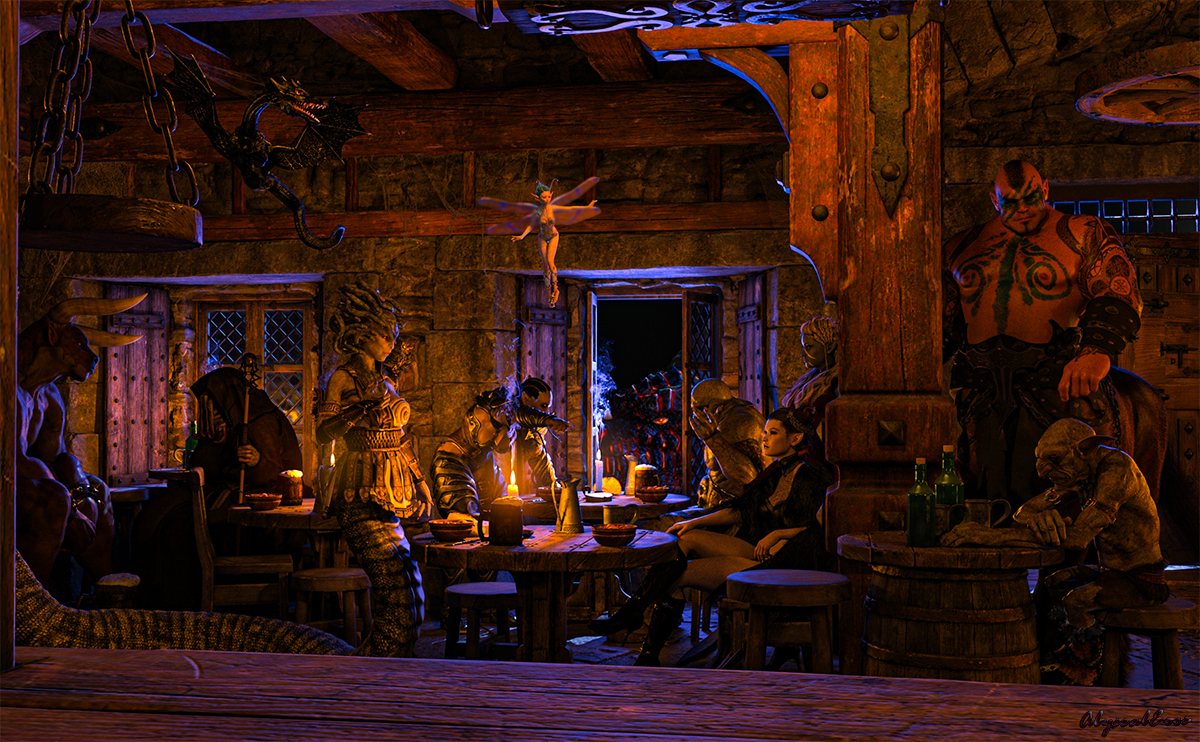 An Evening at the Monsters' Rest by AbyssalEros