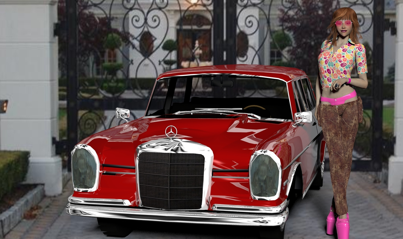 LITTLE MISS RICH AND HER AMG MERCEDES by BKE
