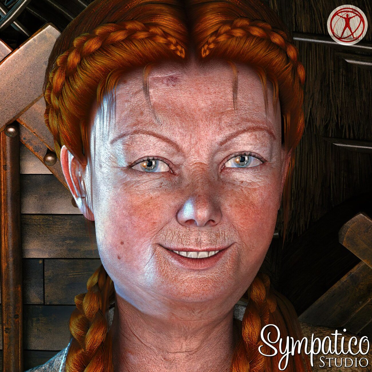 A grandmother in the middle ages (close-up) by 3Dream