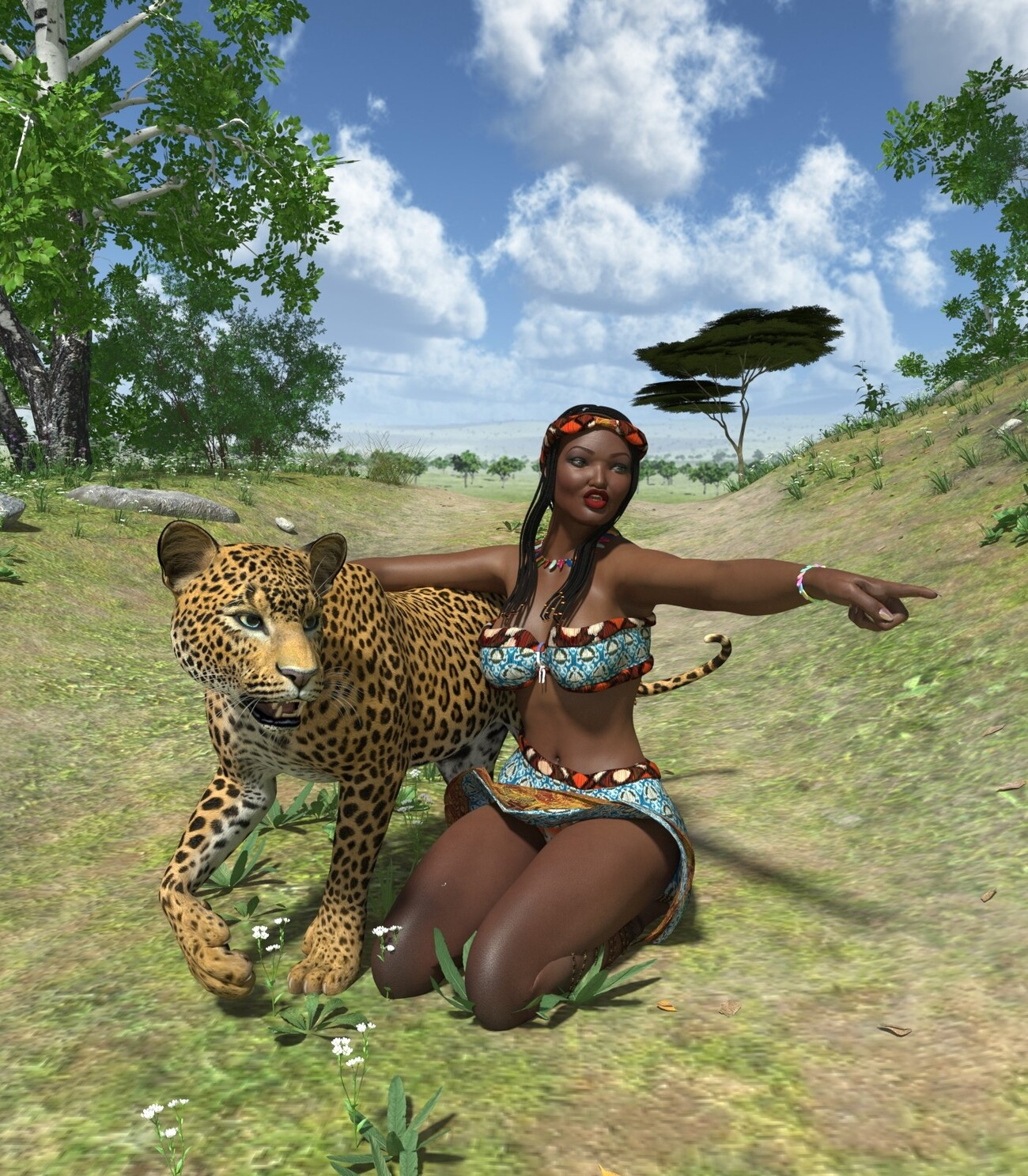 Big cat woman by poser4me