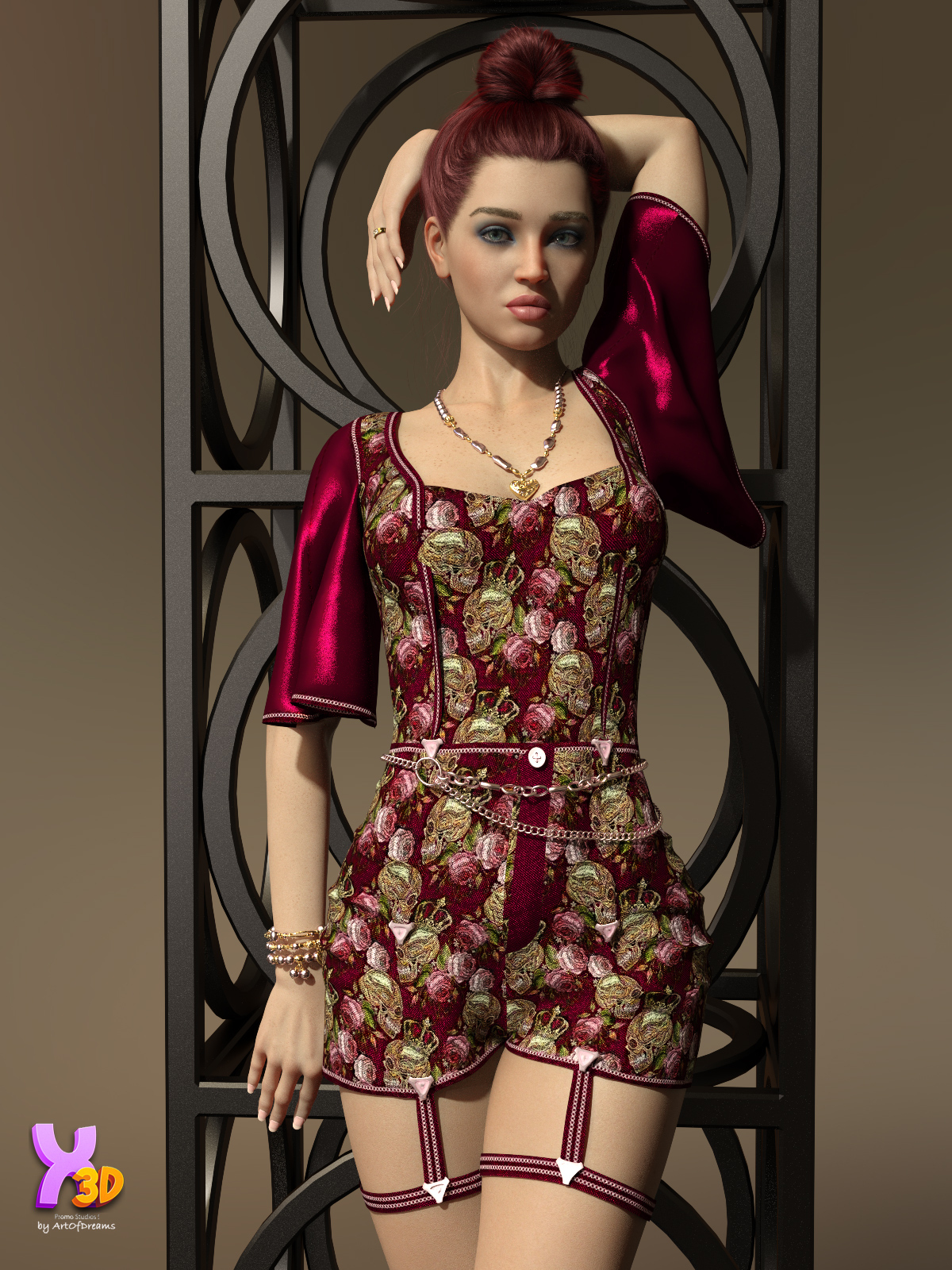 Charm Miya Short Overalls and EX by Crender by ArtOfDreams
