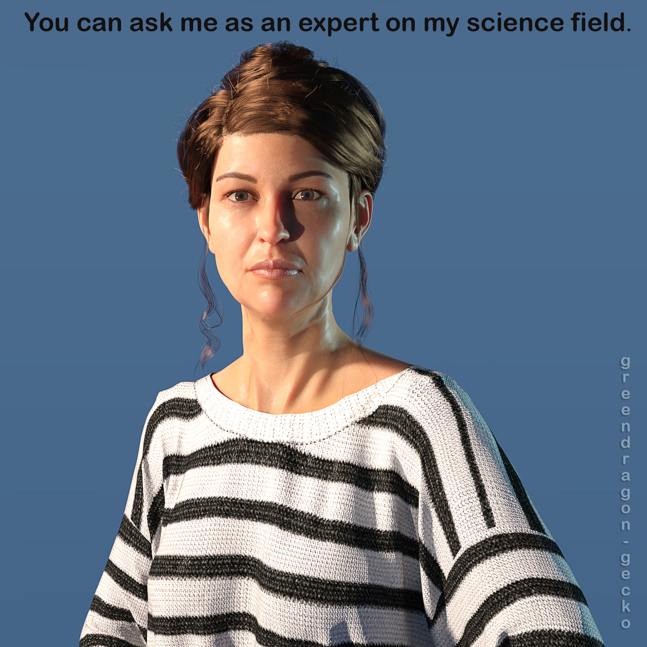 female science expert by Salerina
