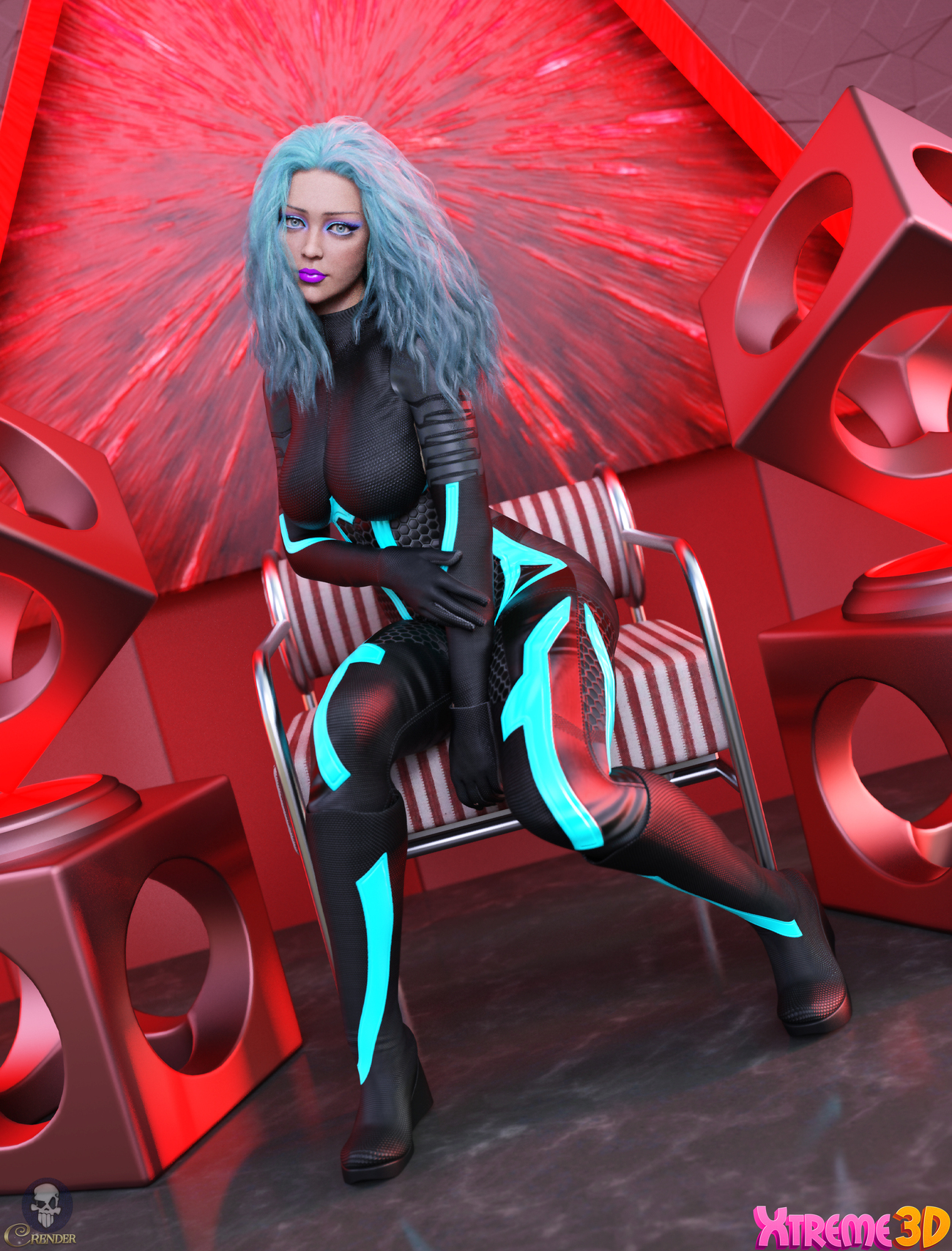 X-Fashion Sci Bodysuit 3 for G8F by Xtrart-3d 2 by crender