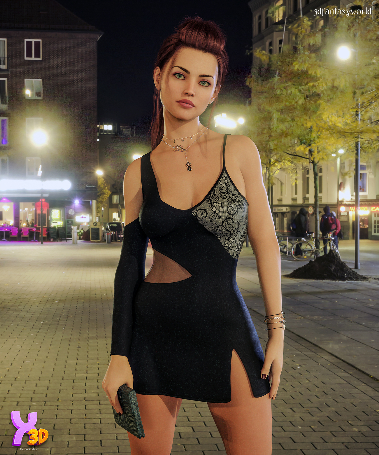 dForce Claudy Candy Dress Outfit for G8F by fantasy3dworld