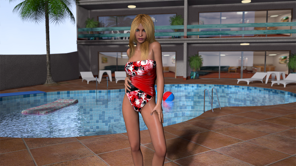 Saxon At the Pool by generation2235