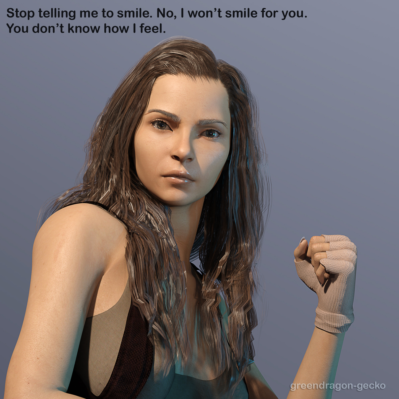 No I won't smile for you by Salerina