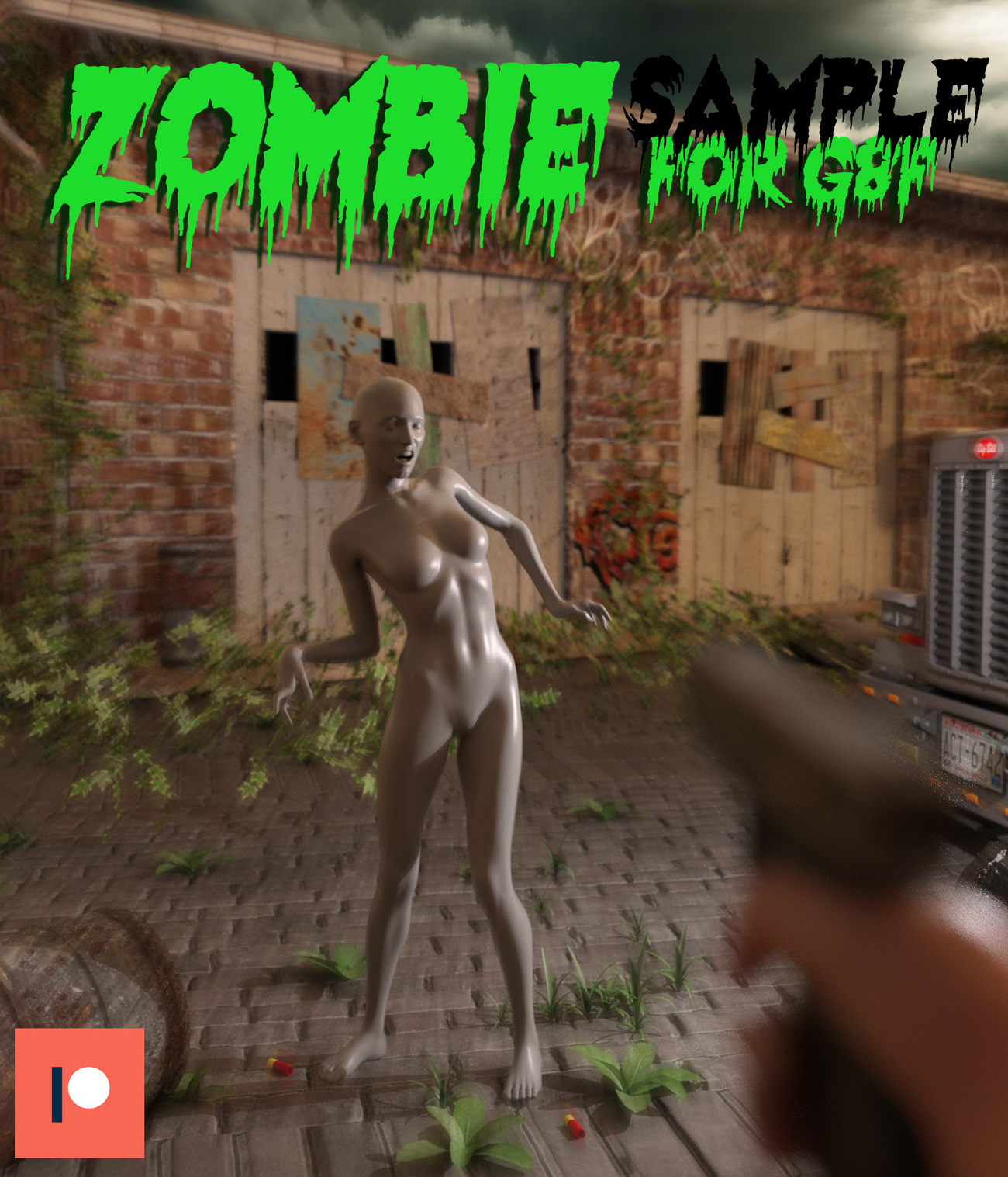 Zombie pose for G8F by lstowe