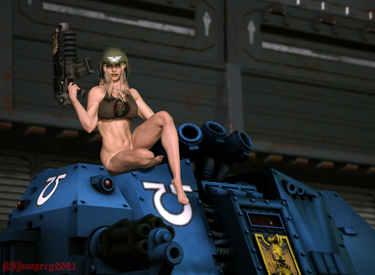 For the Emperor Pinup by ksmith3620