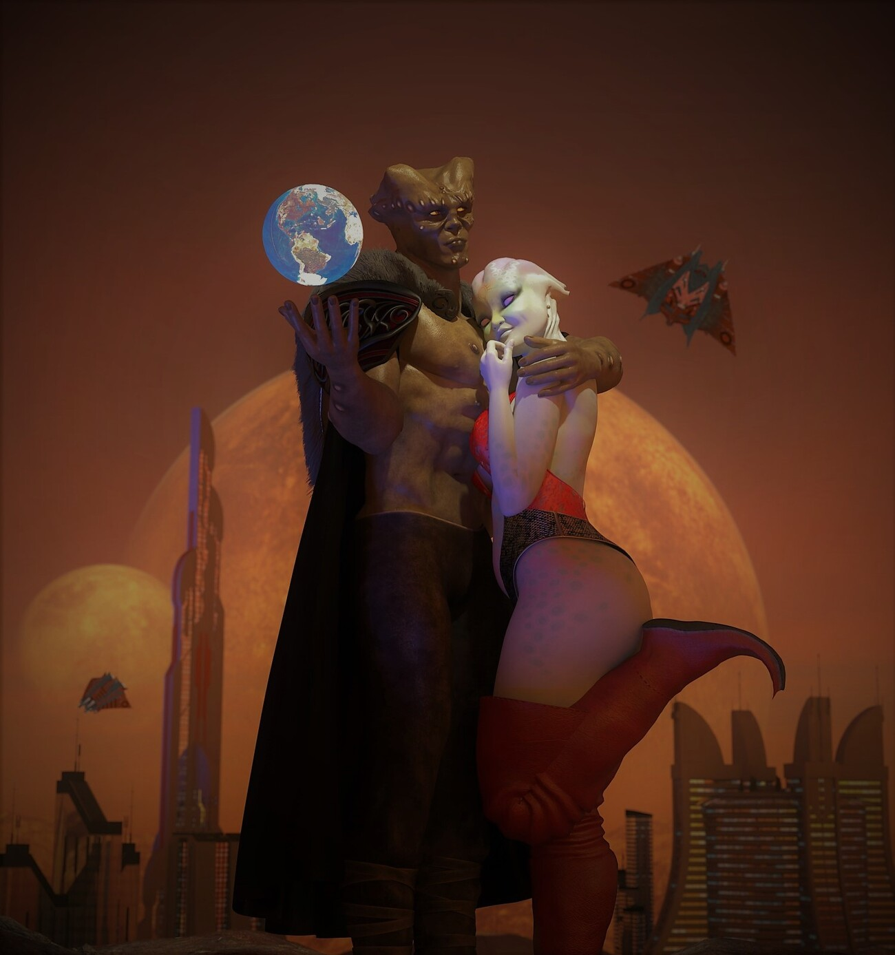 A world for her kiss by poser4me
