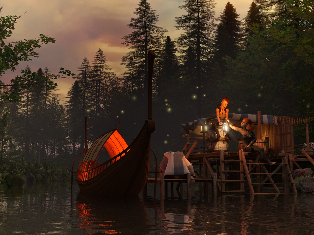 Elven romance on the River by wraae