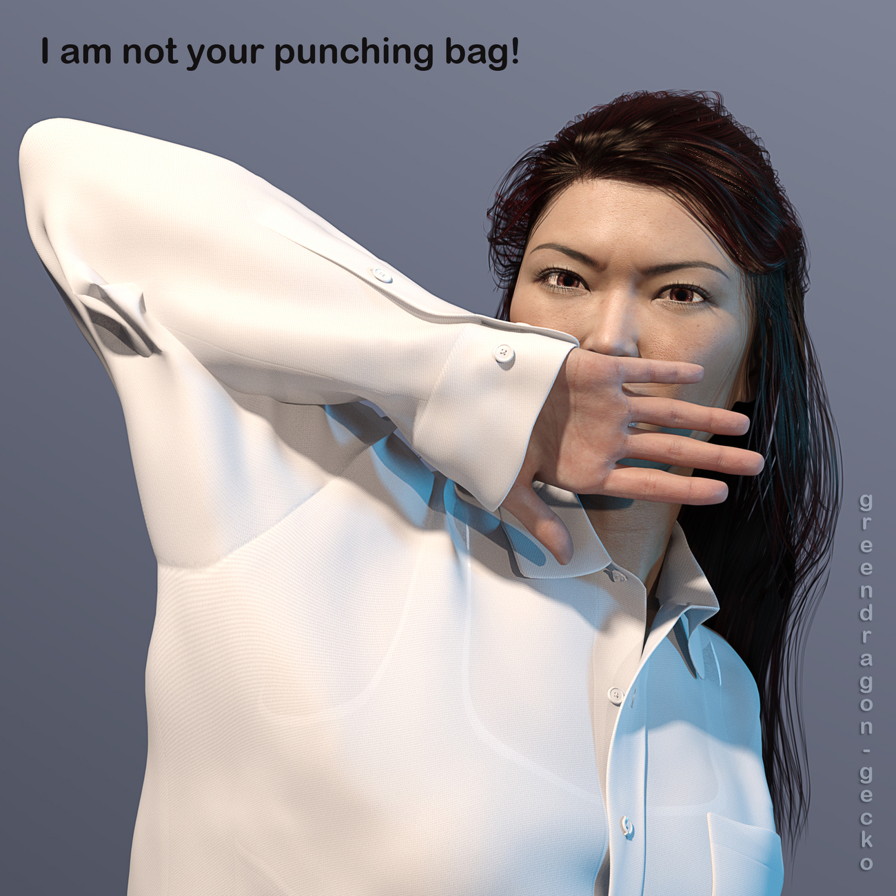 I am not your punching bag by Salerina