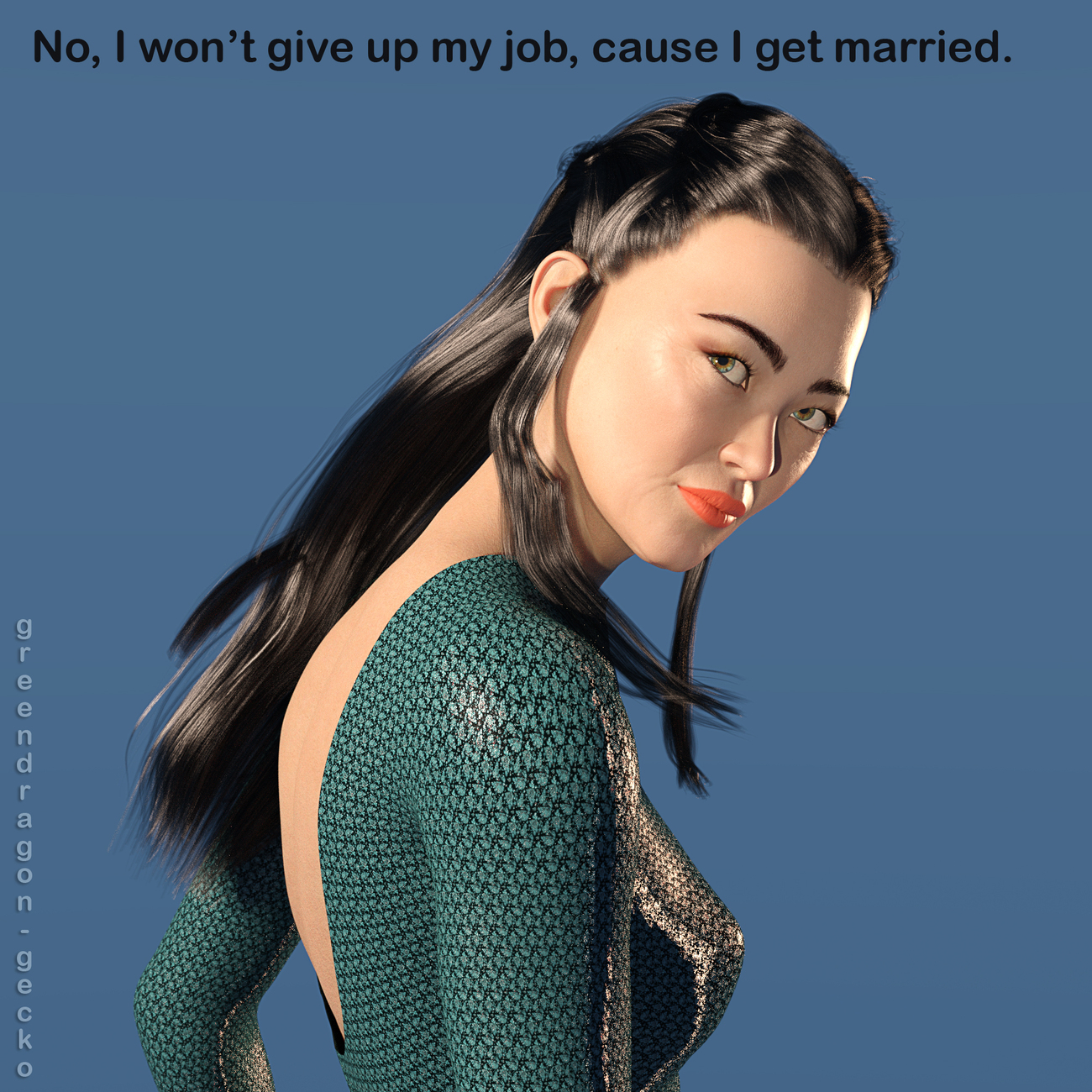 Why should I give up my job just because I marry? by Salerina