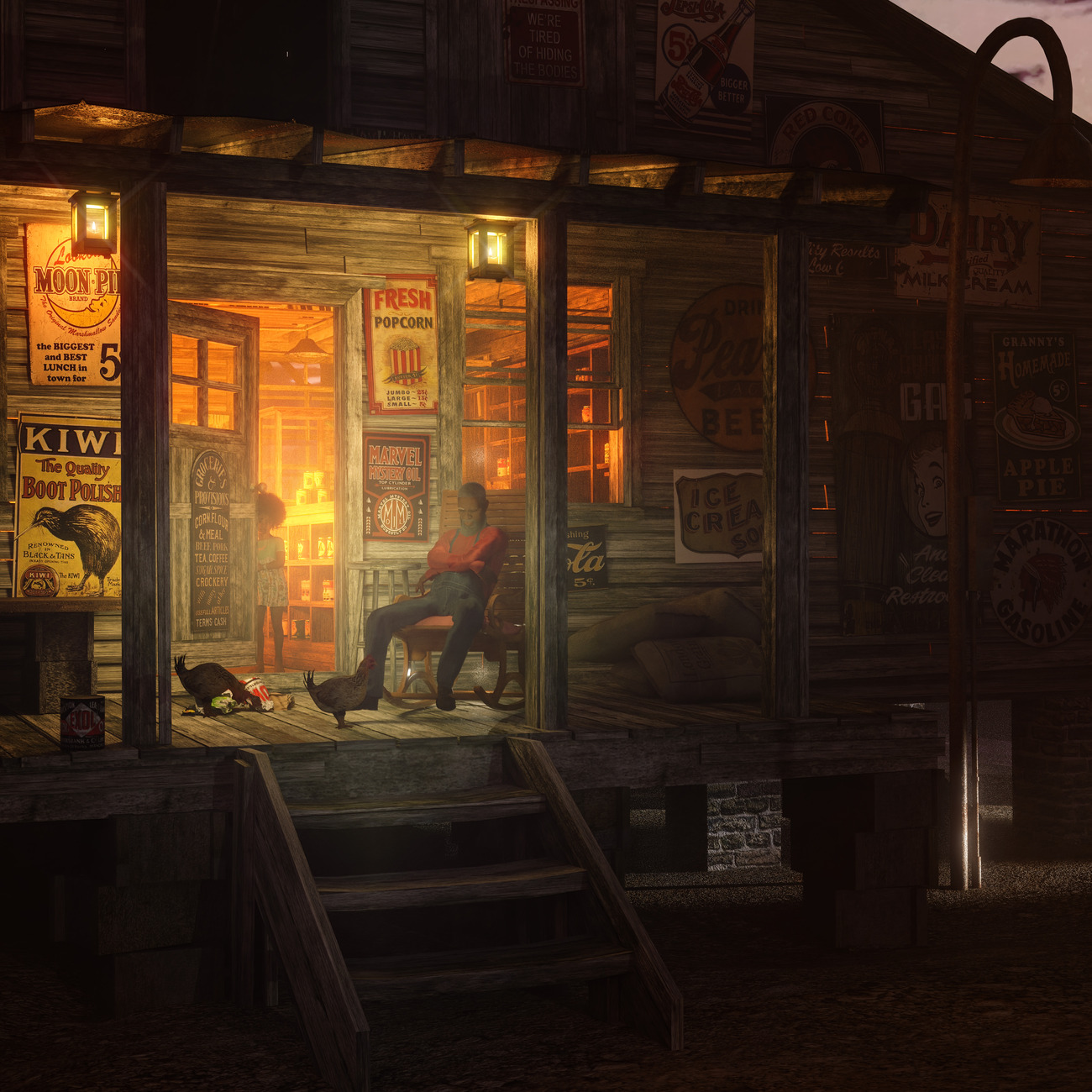 Night at the General Store by wraae