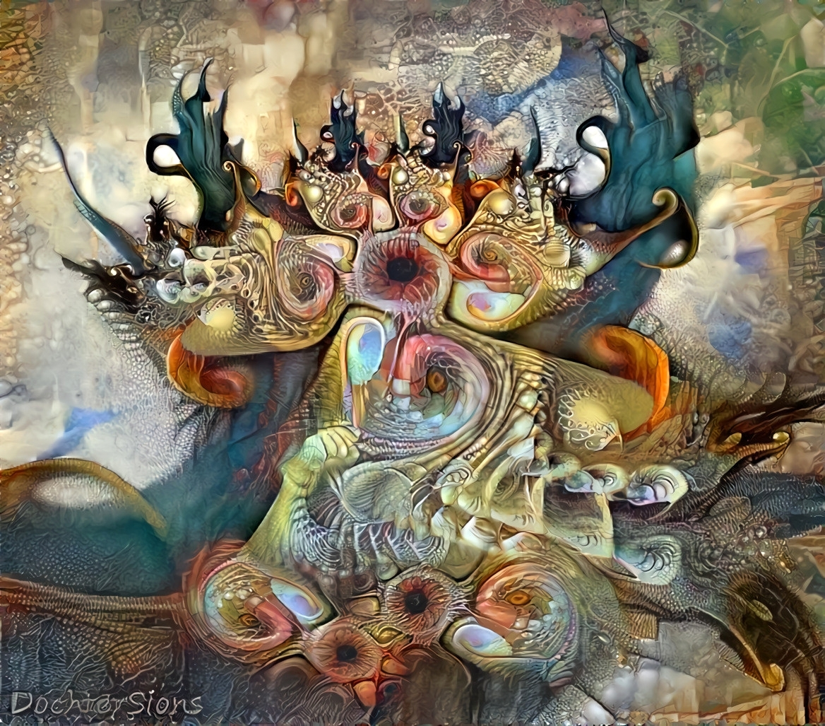 Fractal with filter in Deep Dream