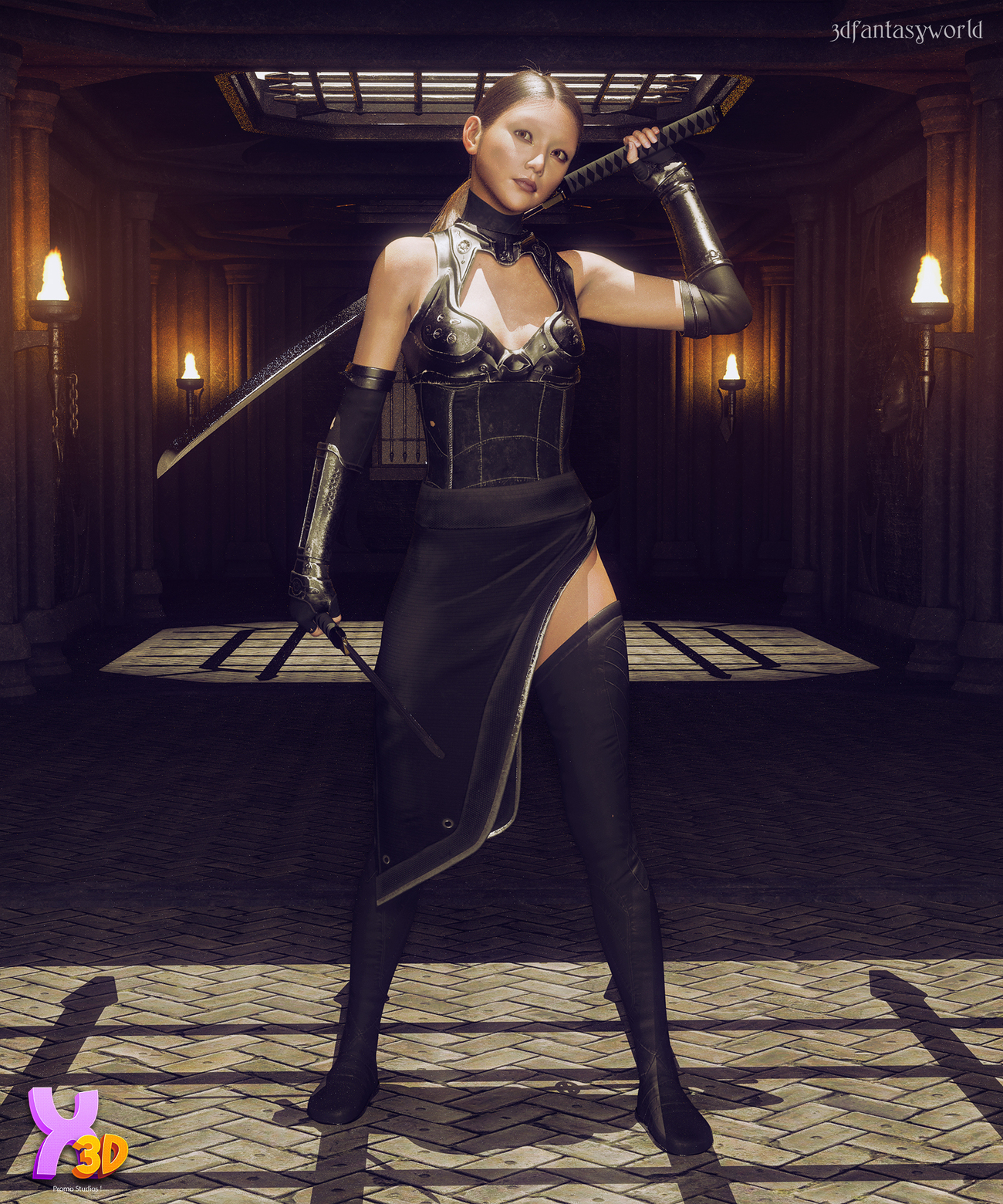 X-Fashion Force Saber Outfit for G8F by fantasy3dworld