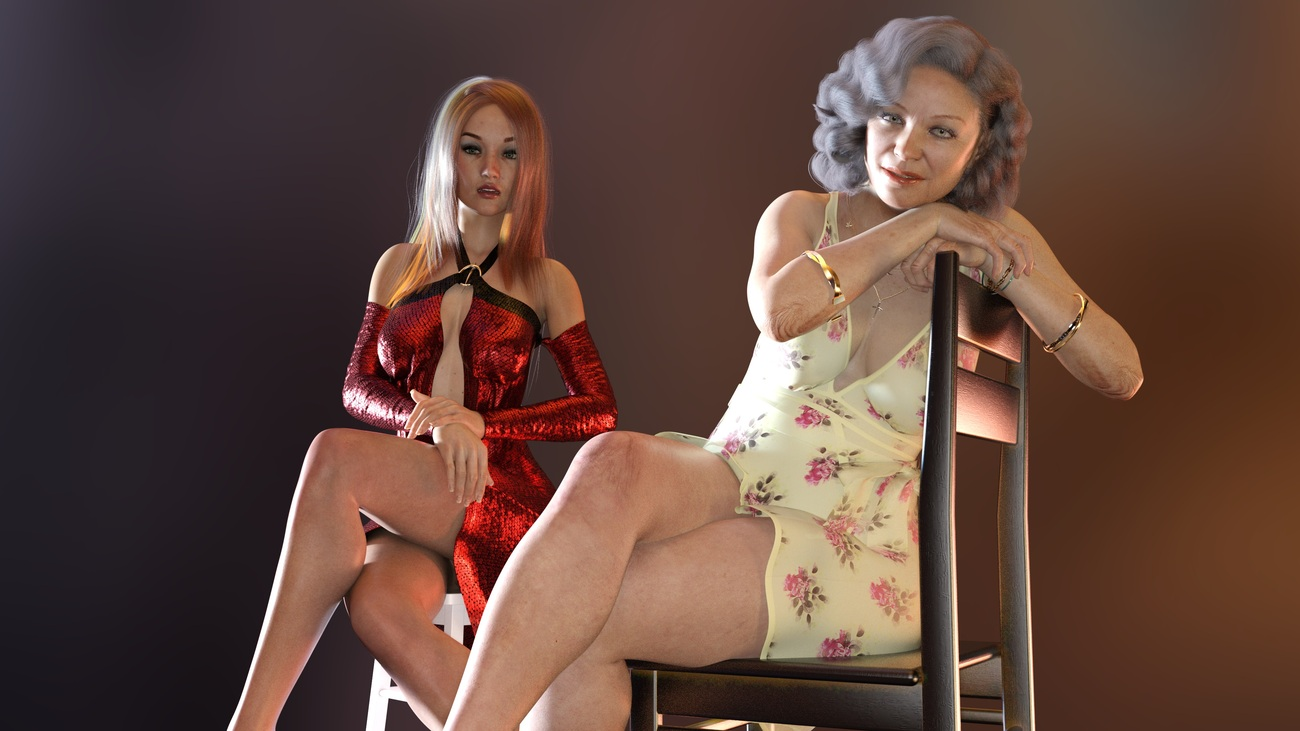 model and mother posing by jhayward