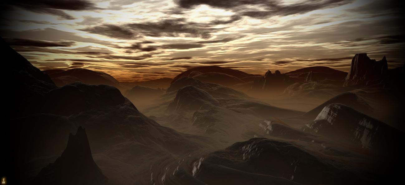 Hilly Sunrise by Lenord