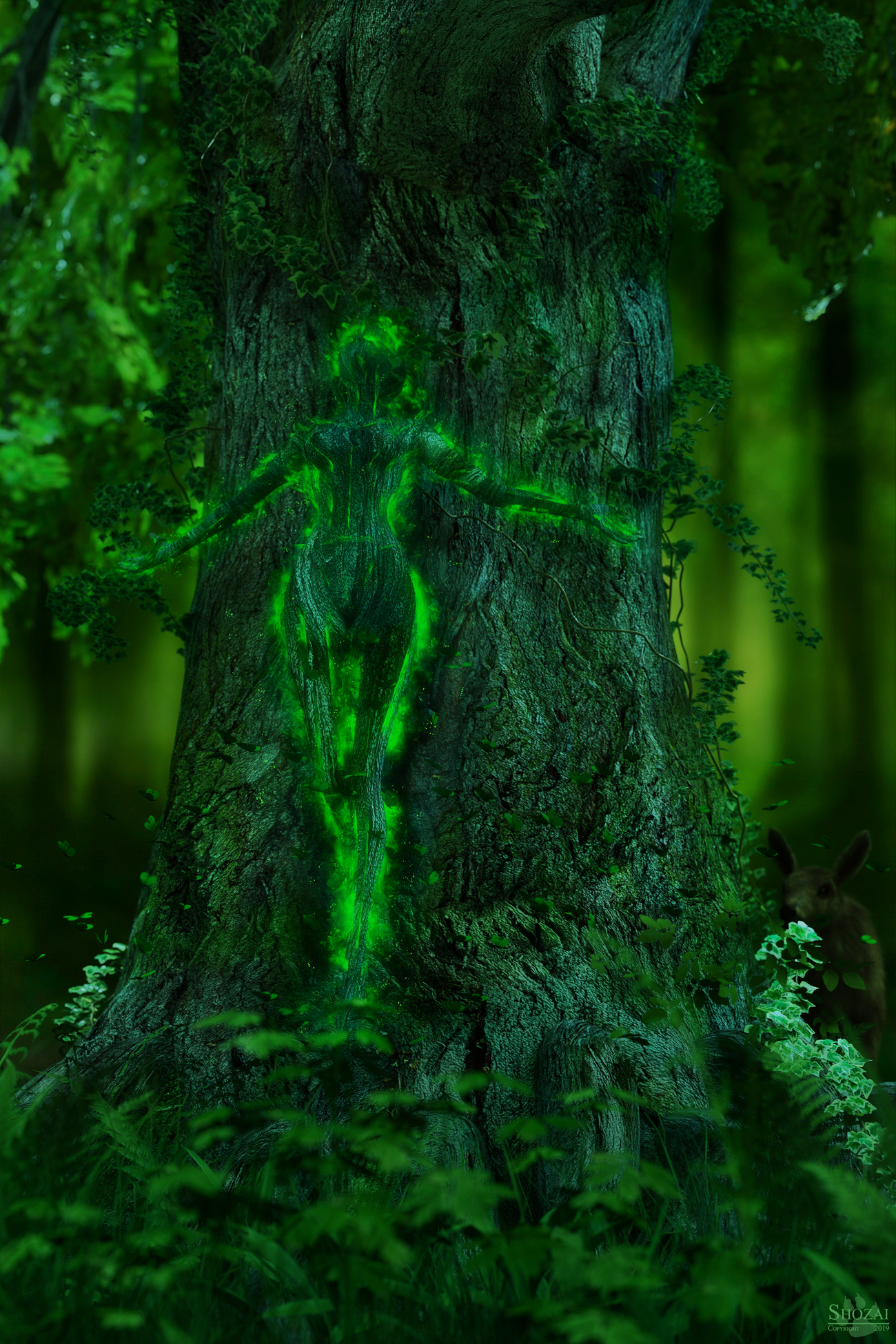 Birth of a forest spirit by Shozai