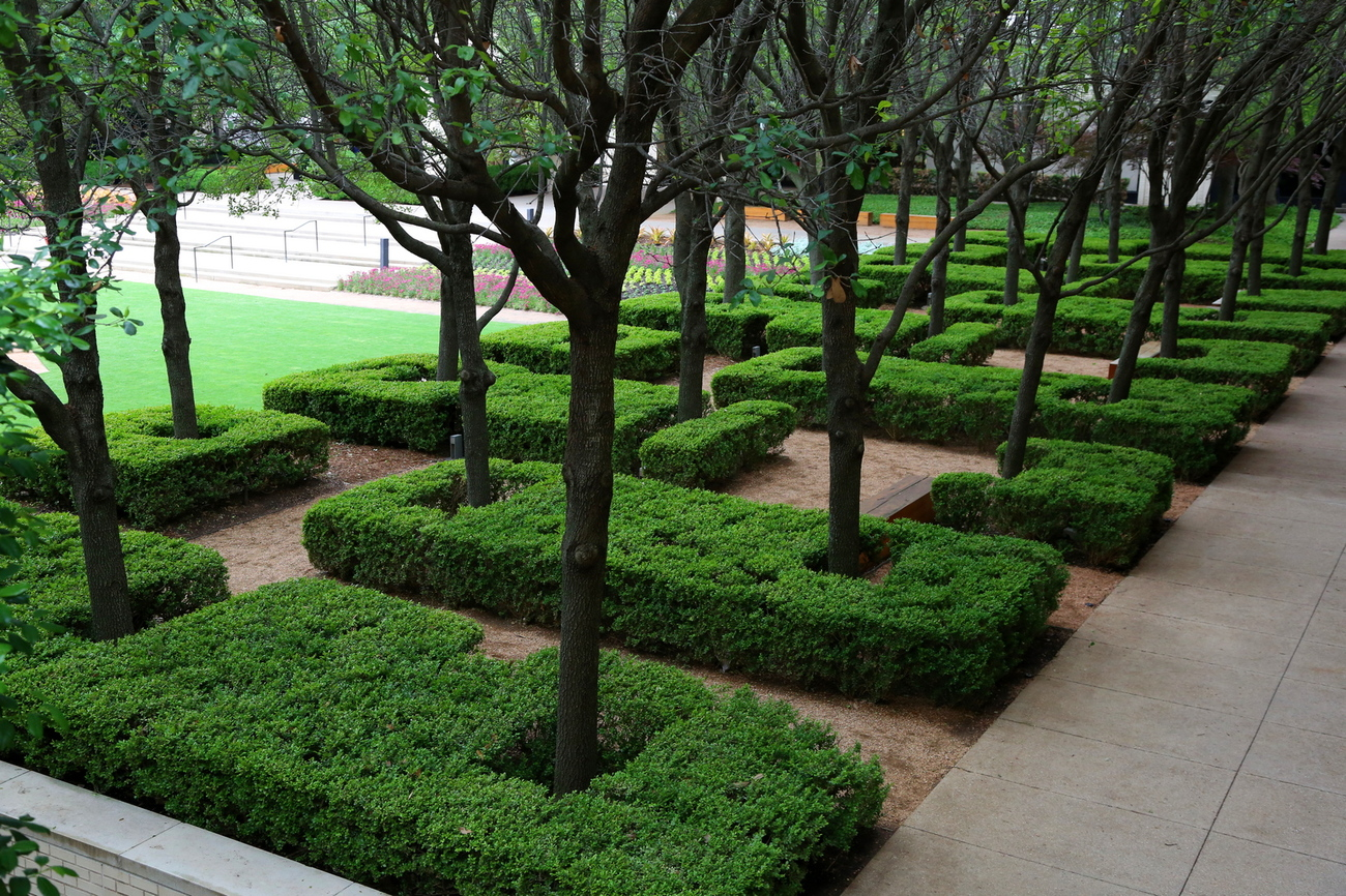 landscaping at the mall outdoor garden by Richardphotos