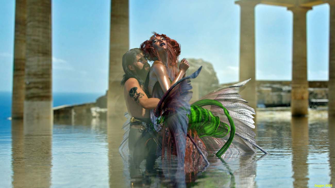The Mermaid And The Pirate by daggerwilldo