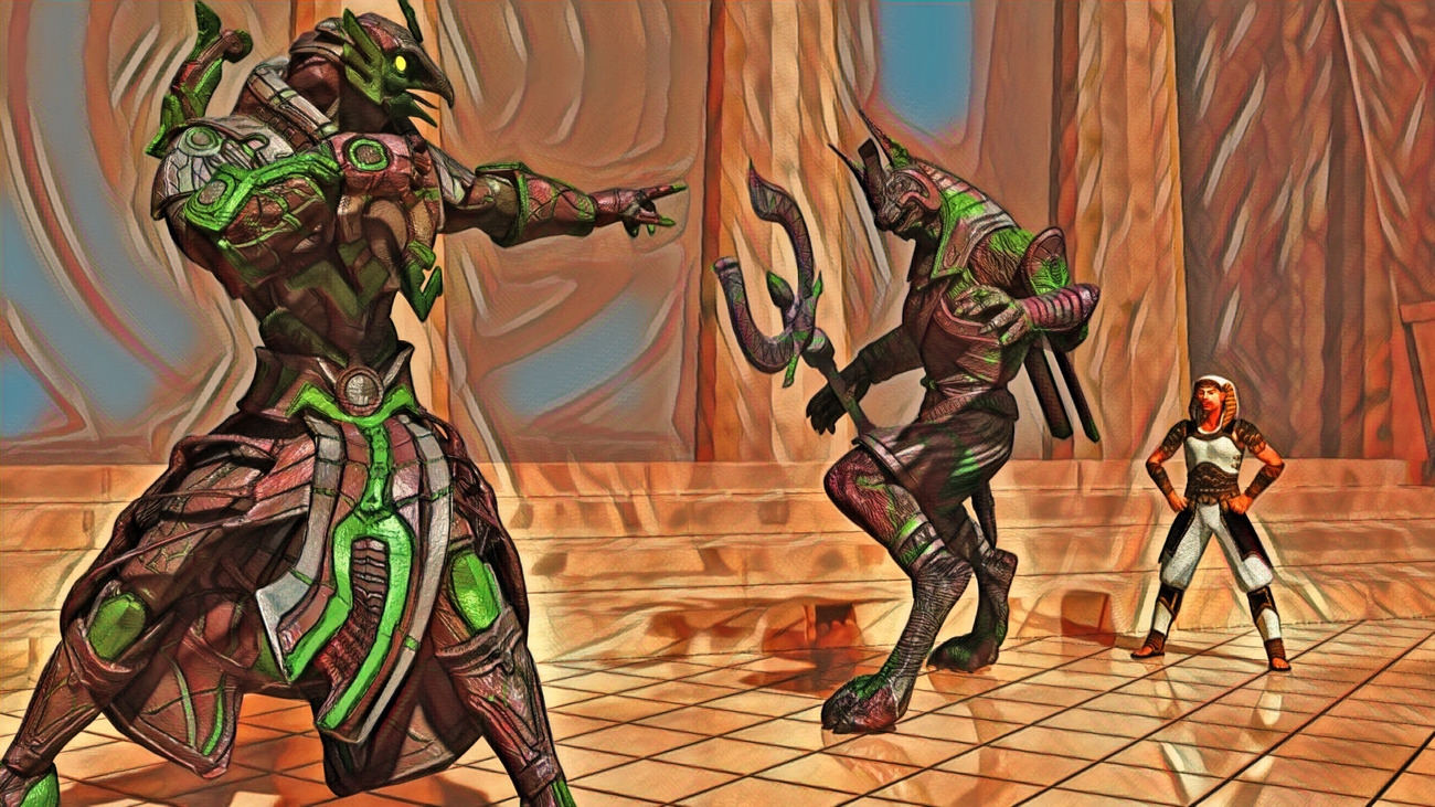 The Rivalry of Ra and Anubis (Version 1)