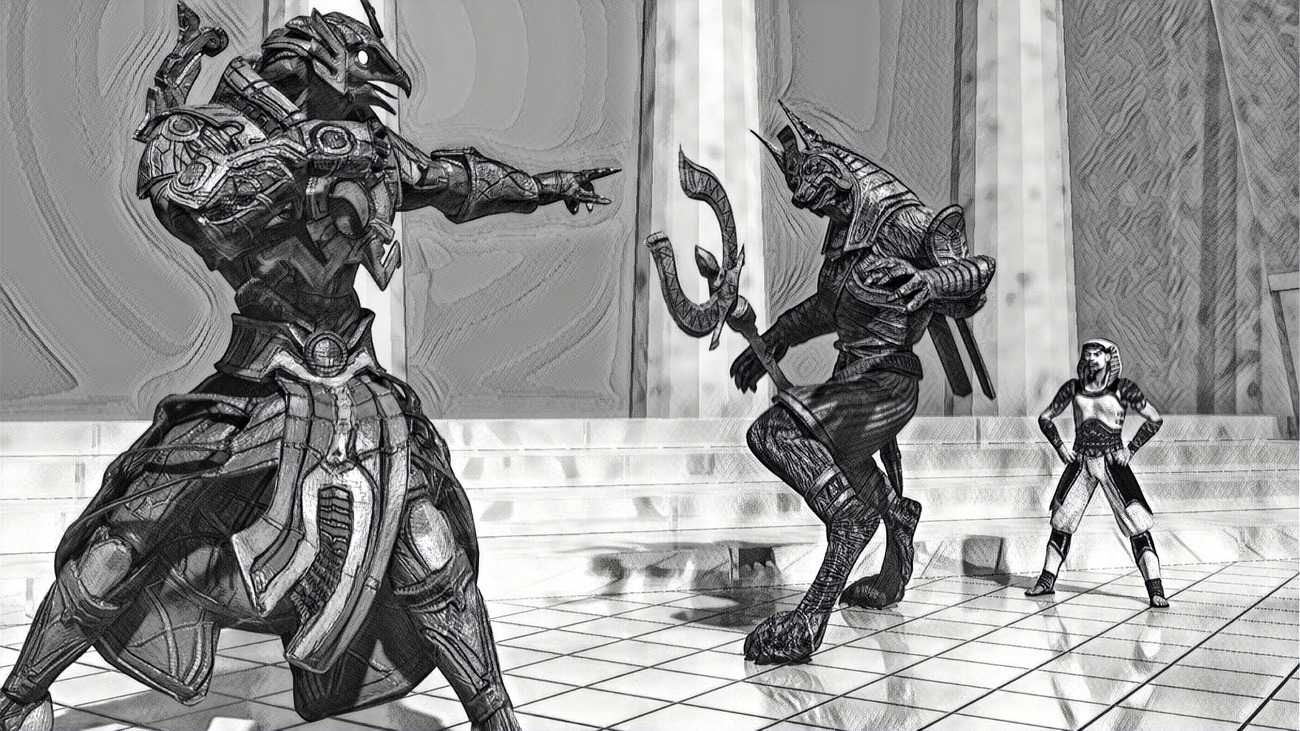 The Rivalry of Ra and Anubis (Version 2)